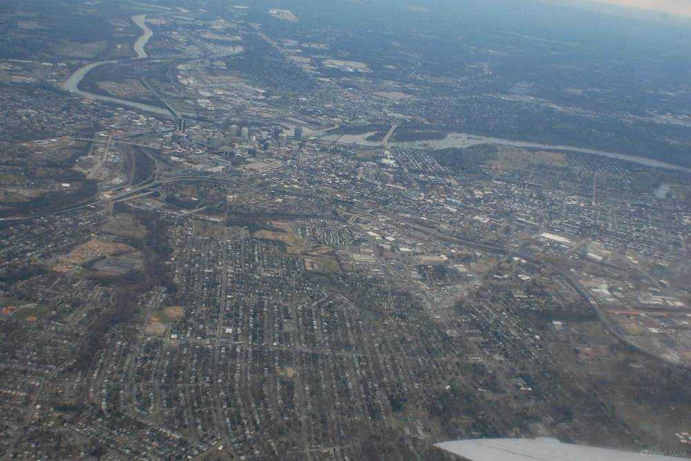 rva aerial view from airplane