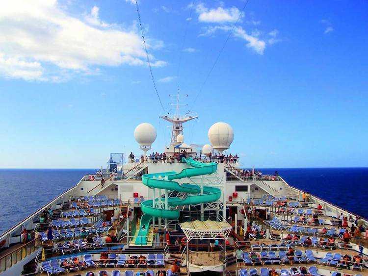 carnival cruise ship top deck slide