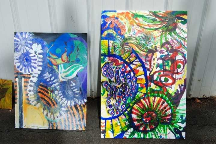 community festival paintings