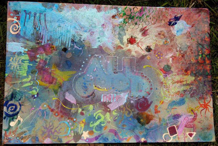 all good music festival group mural