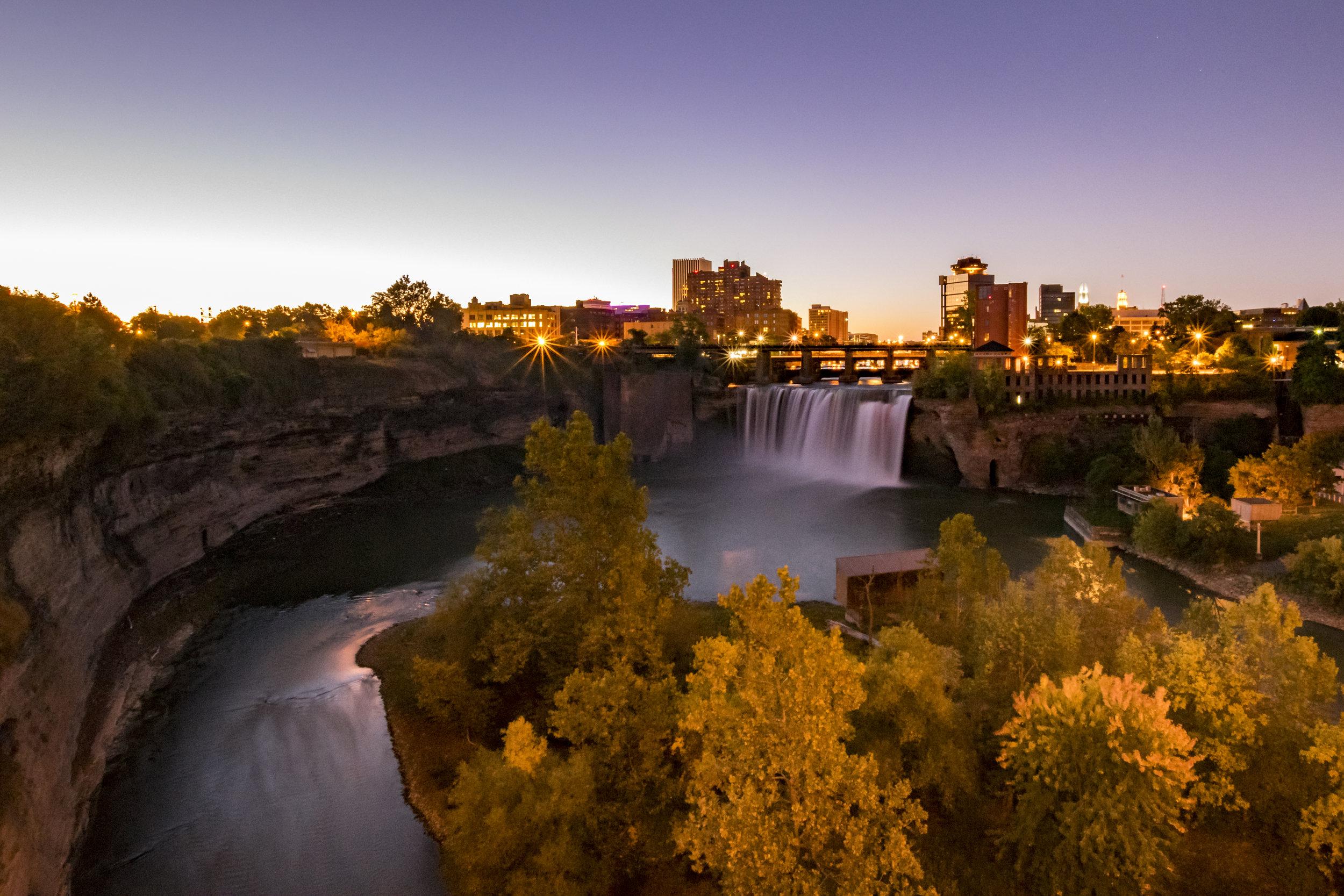 Dawn at the Falls