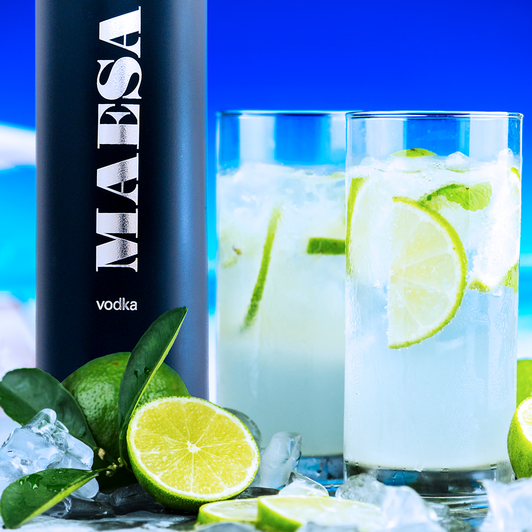 Lime summer fizz - In a tall glass filled with ice, pour in order the following ingredients and lightly stir.1 1/2 oz MAESA VodkaJuice of 1/2 limeFill with lemon-lime sodaComplement with 3 lime wedges