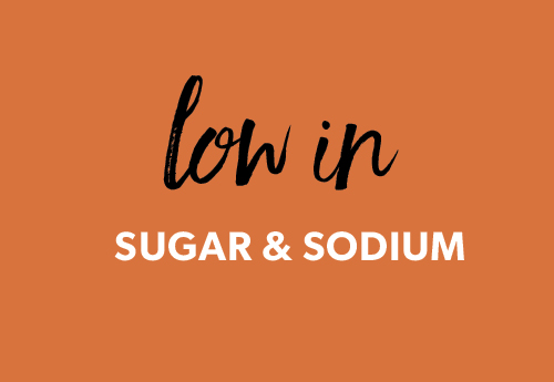 low sugar low sodium