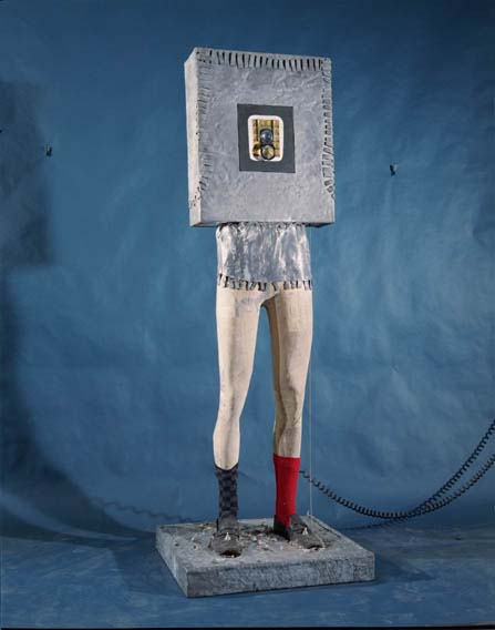 Fiberglass Cast   Legs: Led Lamented Box  80 x 70 x 30 x 30 Inches