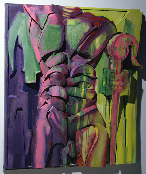 1999  Oil On Canvas Over Sculpted Foam  51 x 47 x 4 Inches