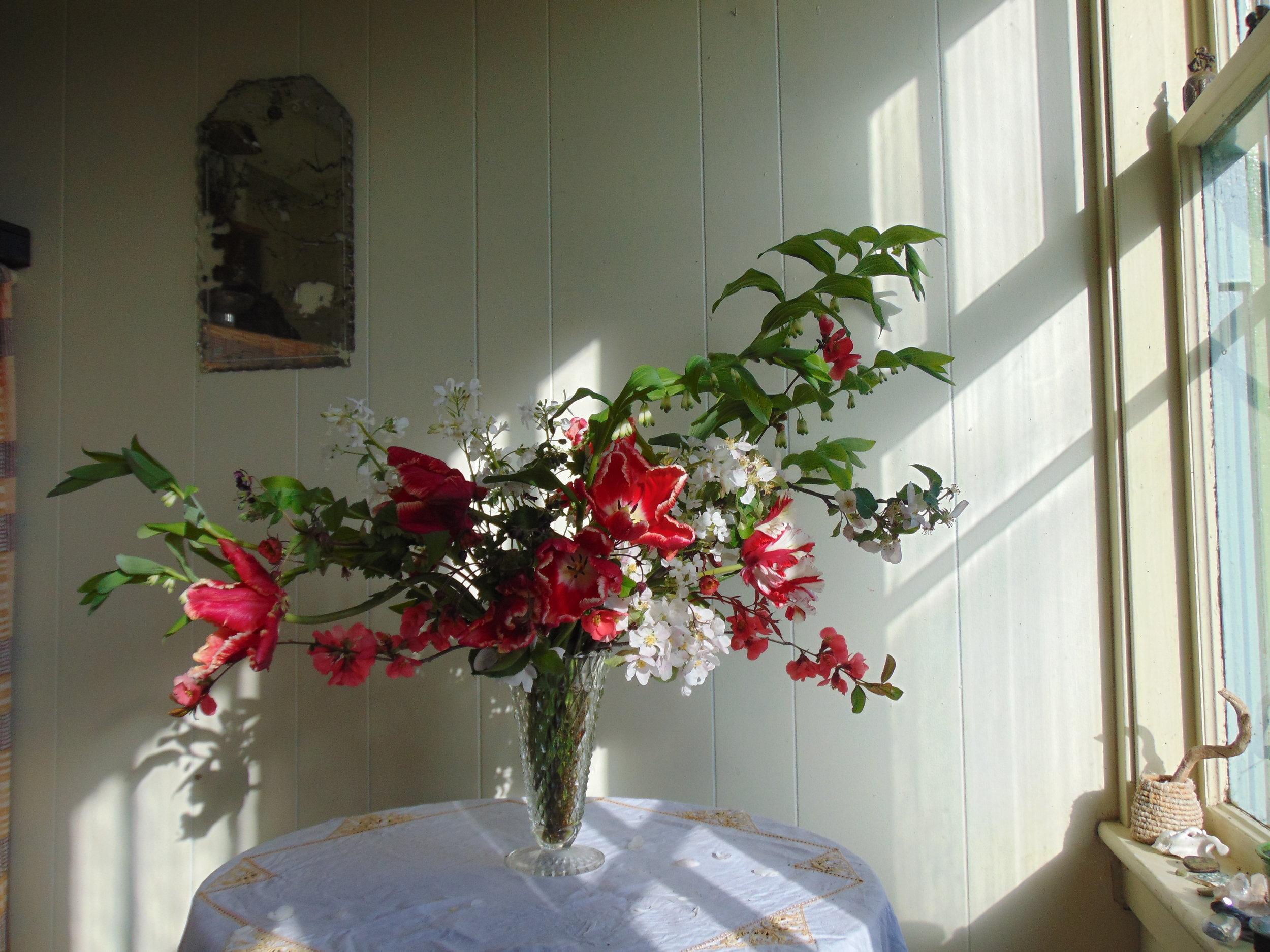Fresh cut local flowers and floral design. Hedgerow, Nova Scotia.