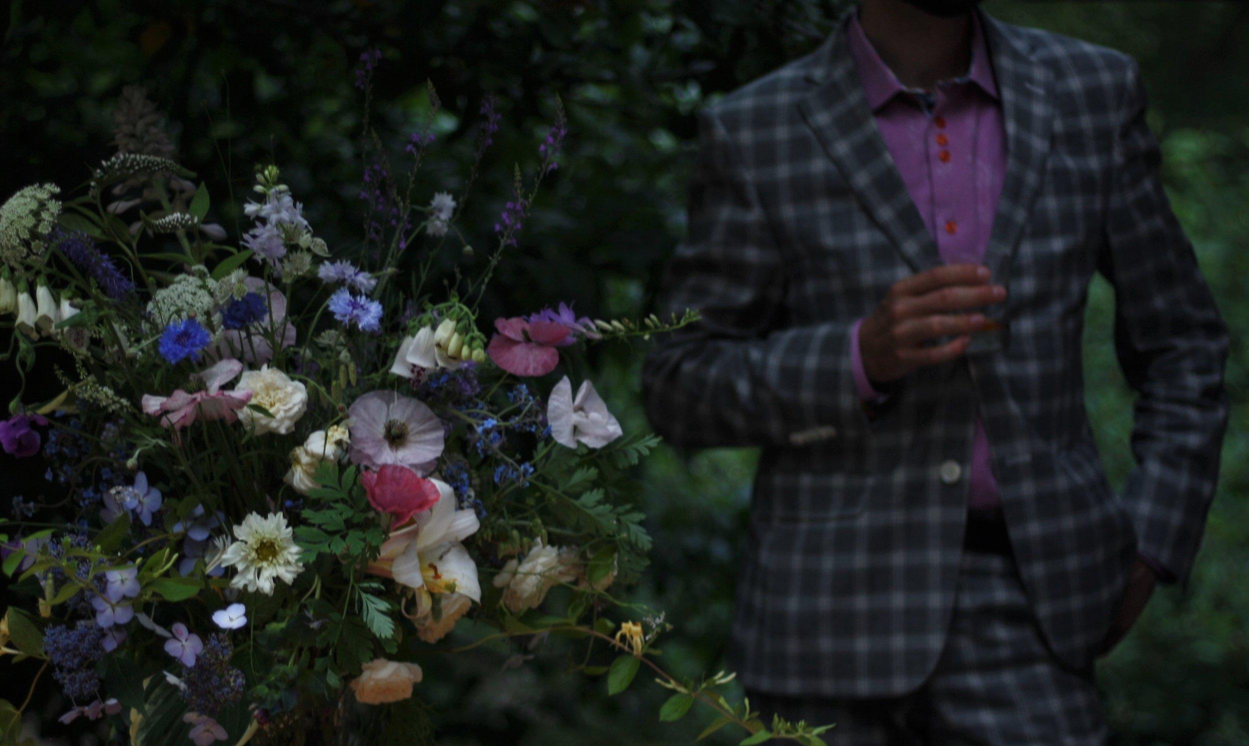 Hedgerow Flower Company's wedding flowers at Windhorse Farm, Nova Scotia