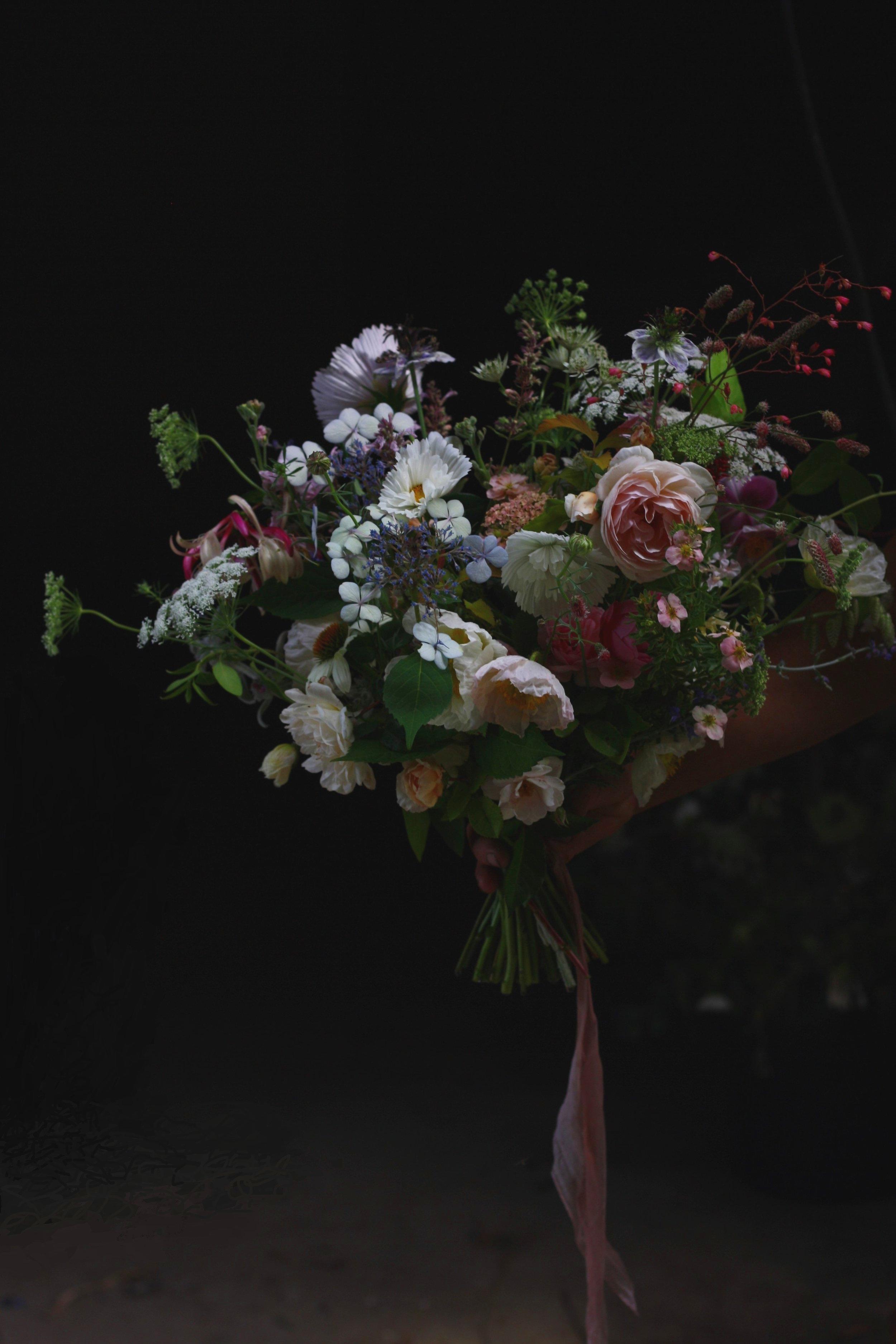 'Wildflower' wedding, Nova Scotia. Hedgerow Flower Company (flower farm and florist).