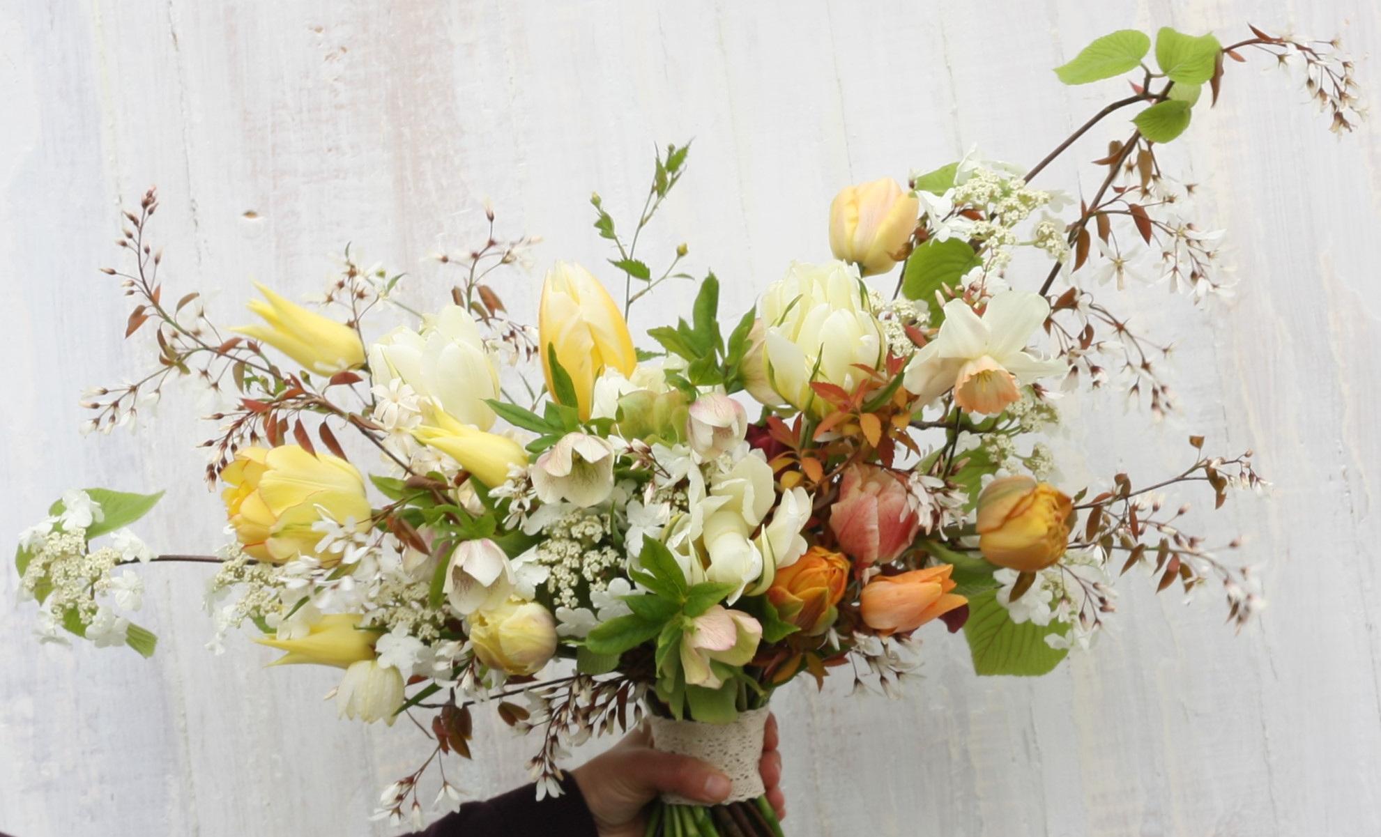 Spring+Bridal+Bouquet+from+Nova+Scotia%27s+Hedgerow+Flower+Company