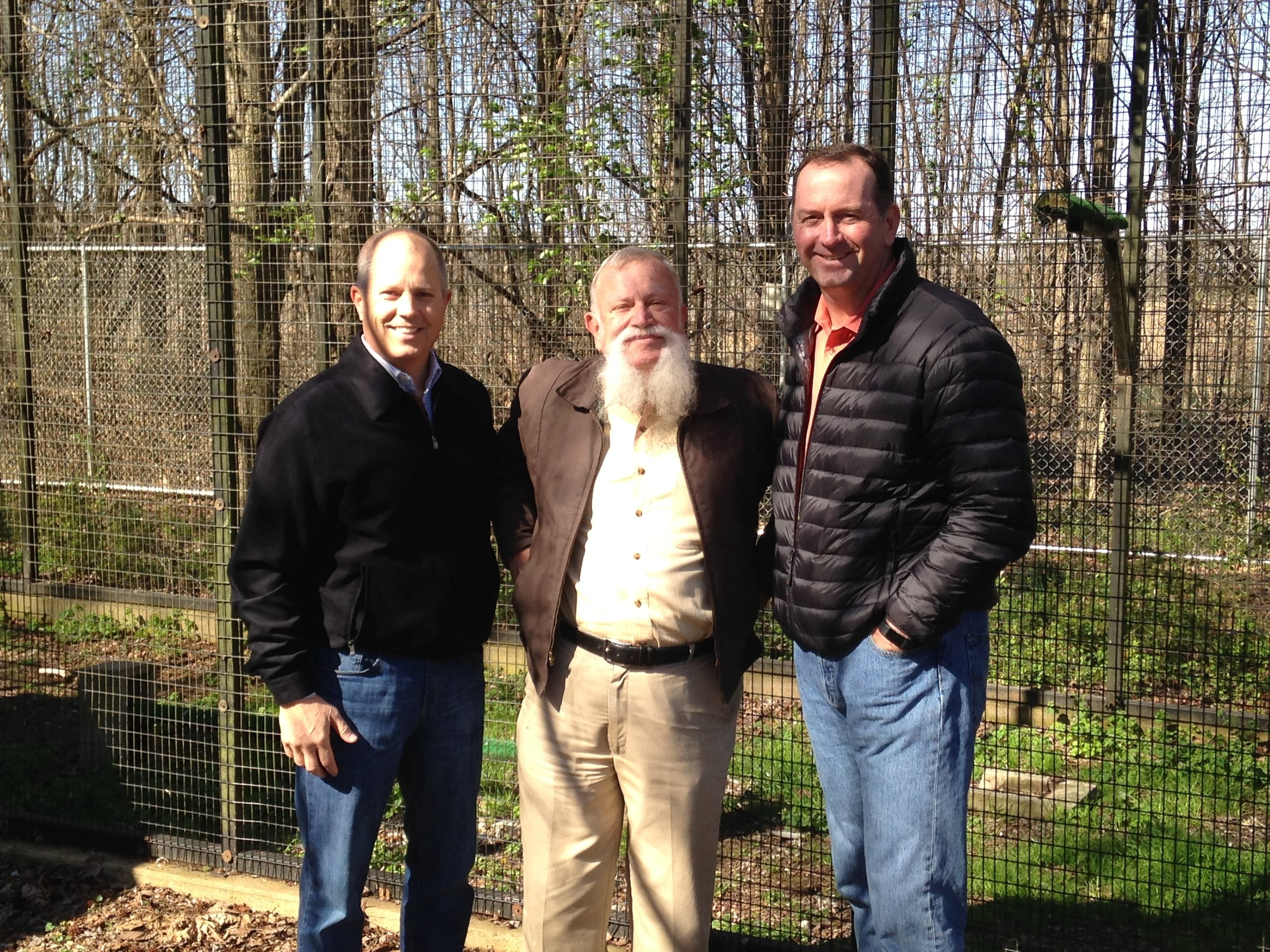 Jeff Homad of the MCVB, Dr. Knox Martin, and Shelby County Trustee David Lenoir taking a tour.