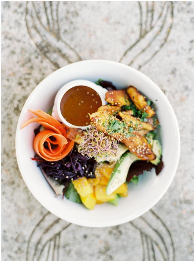 Fresh organic salad La Paloma Ibiza
