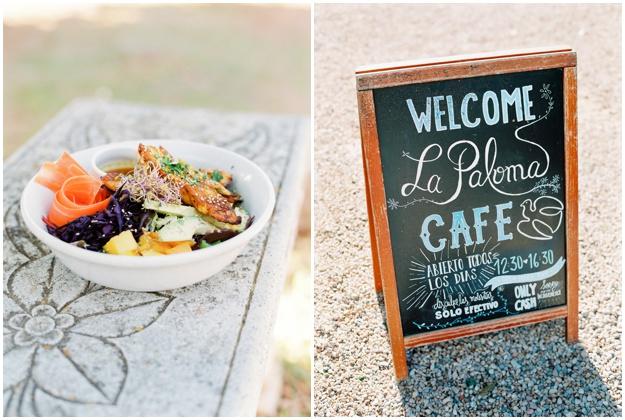La Paloma Cafe Ibiza salad fresh food