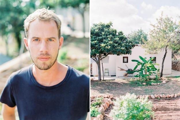 jurjen in his Ibiza garden
