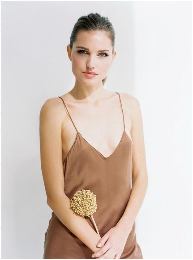 Beautiful bridesmaid silk dress Ibiza
