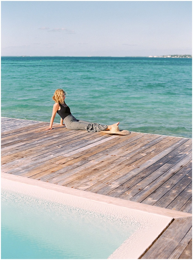 Harbour Island Fashion Marysia Swimwear poolside