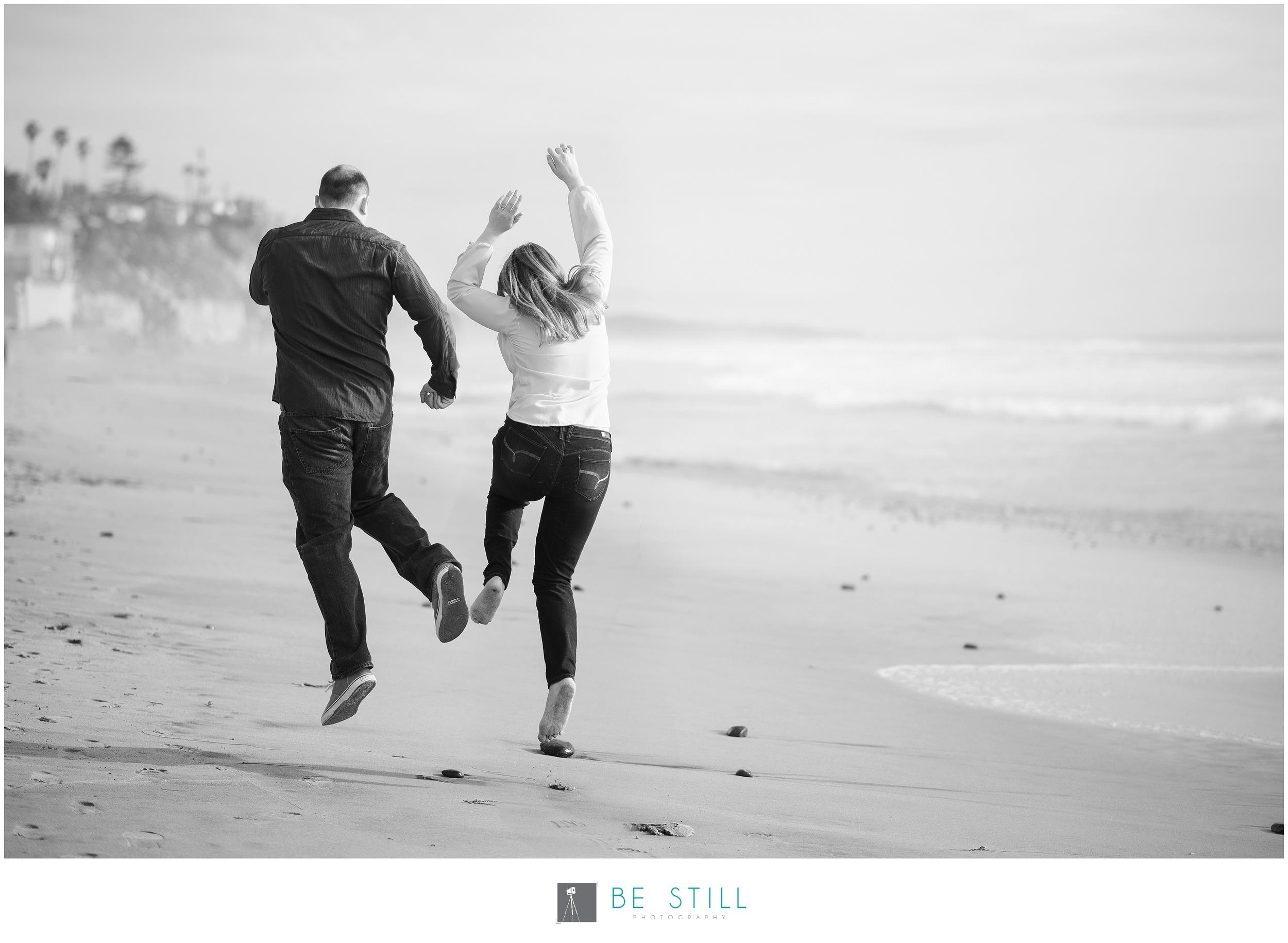 San Diego Engagement Photos at Moonlight Beach in Encinitas