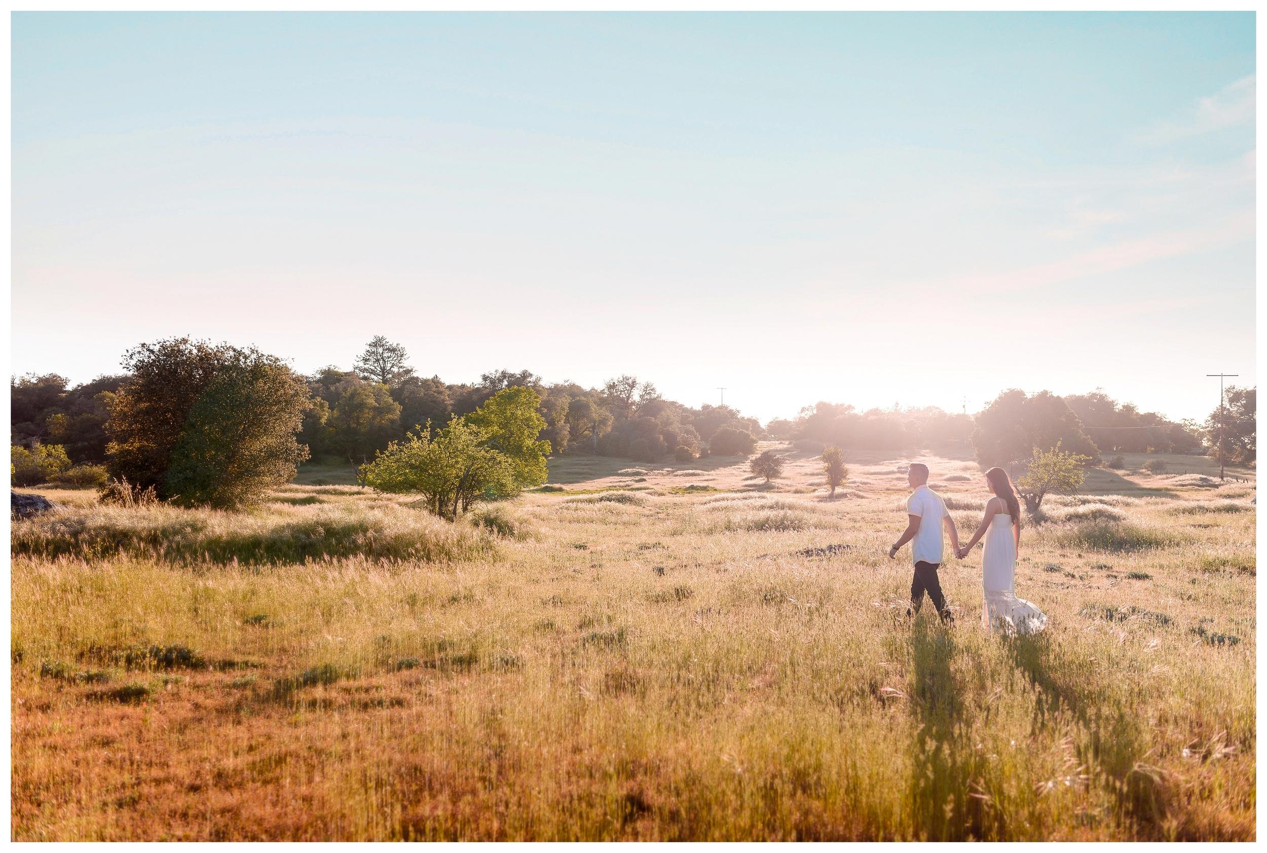 Be Still Photography | Julian Engagement Portraits | Field | Golden Hour