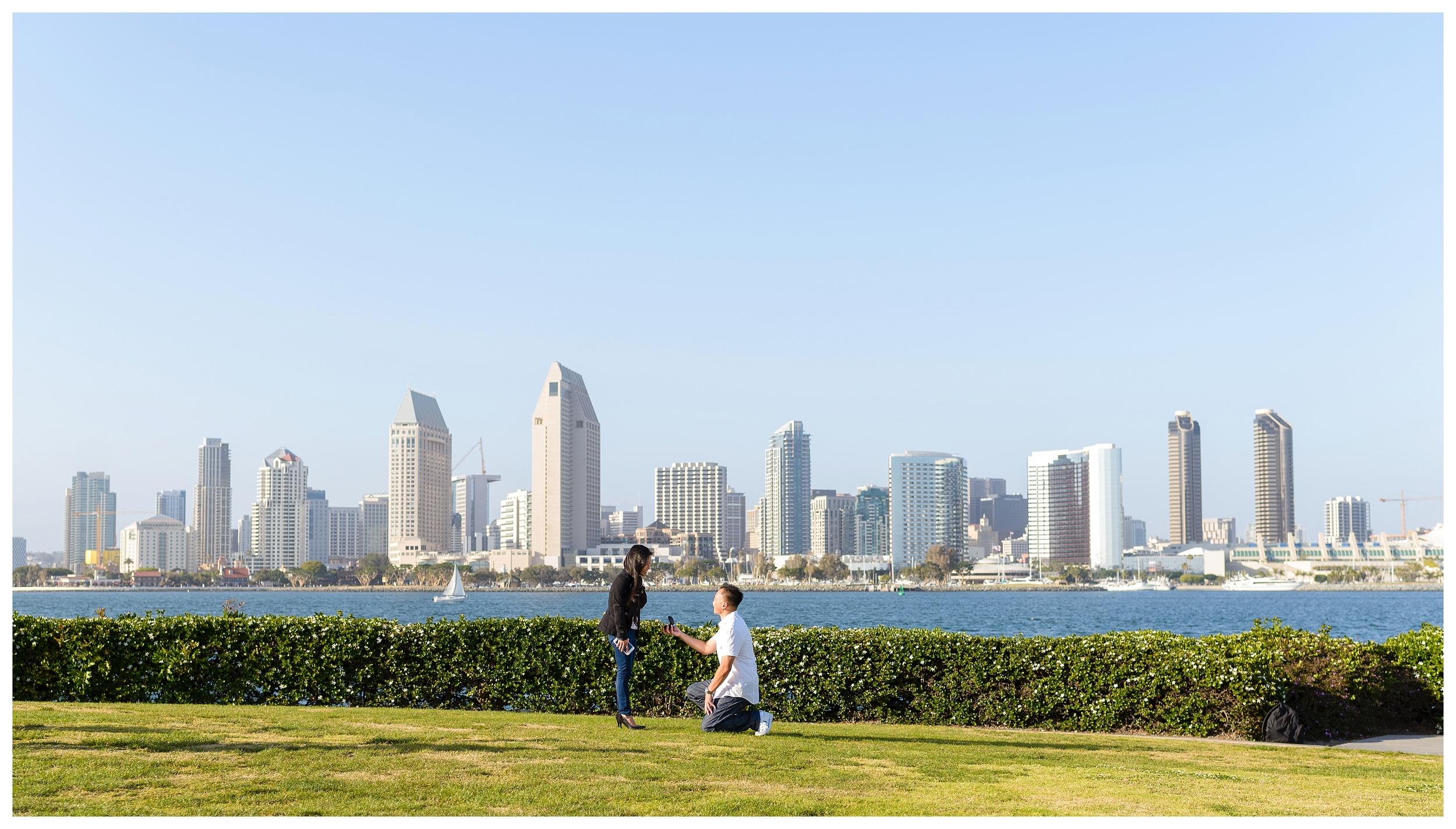San Diego Proposal Photography   Ernie & Fiona Photography   Coronado Island   Centennial Park