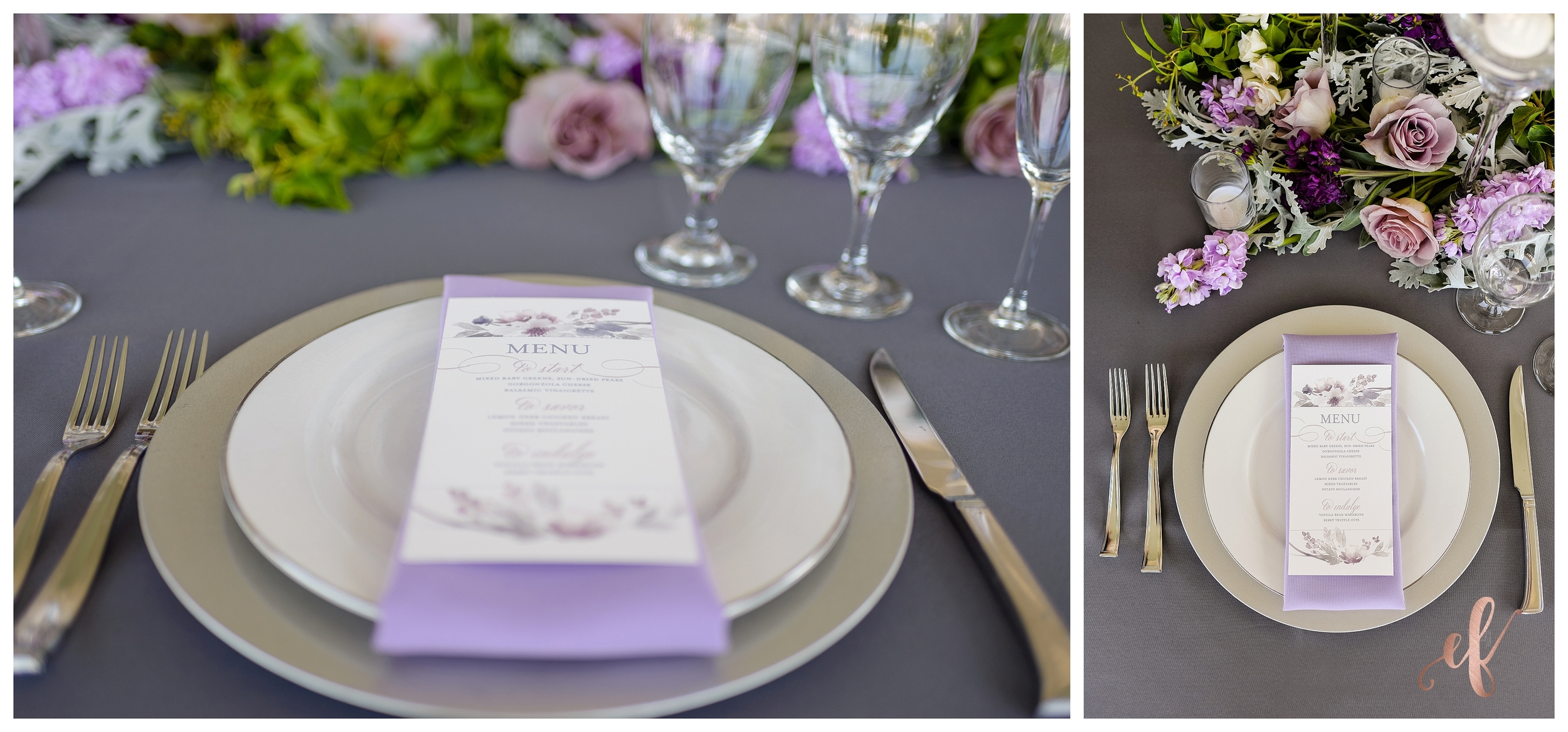 San Diego Wedding Photographer | Lila Canyon Estate | Ernie & Fiona Photography | Dinner setting