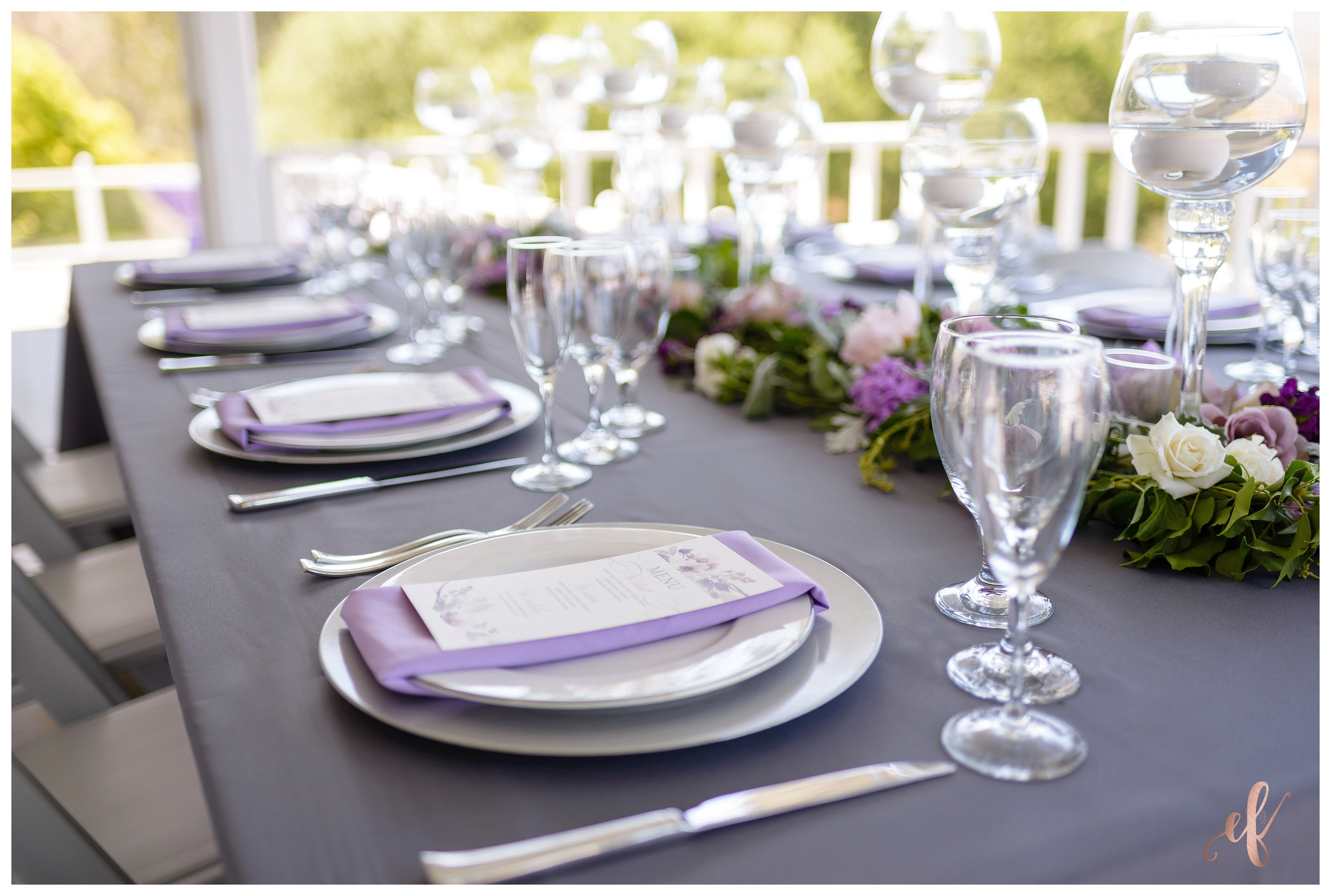 San Diego Wedding Photographer | Lila Canyon Estate | Ernie & Fiona Photography | Table Setting
