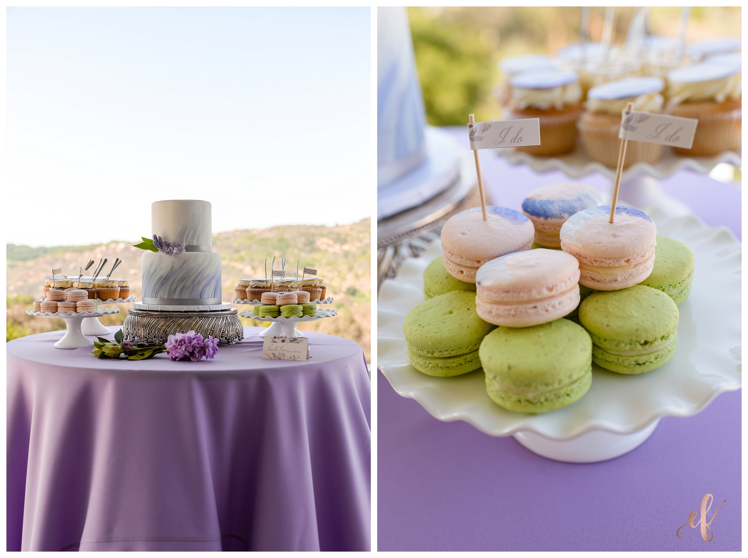 San Diego Wedding Photographer | Lila Canyon Estate | Ernie & Fiona Photography | Jenny Wenny Cakes