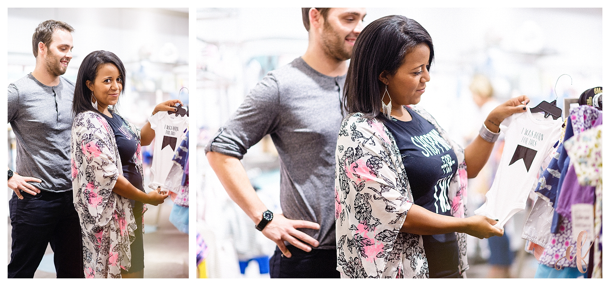 Pregnancy Reveal Photography | Baby | Pregnant | Shopping For Two