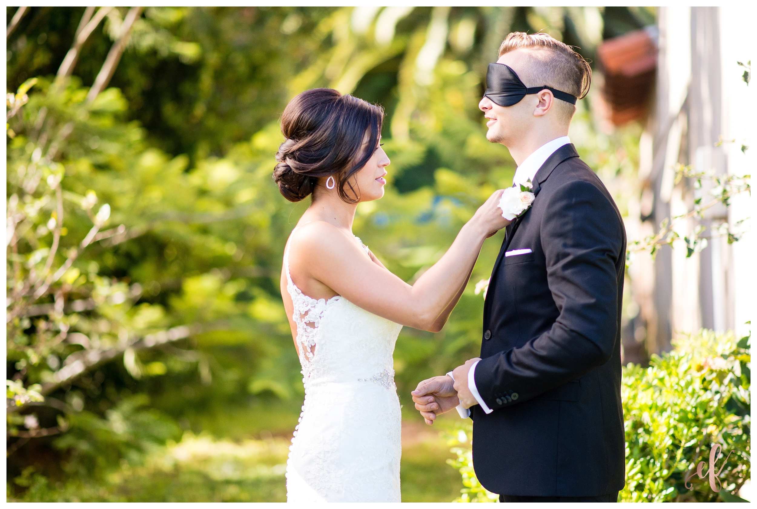 San Diego Wedding Photography | Bride | Groom | Portraits | Blindfold | First Look