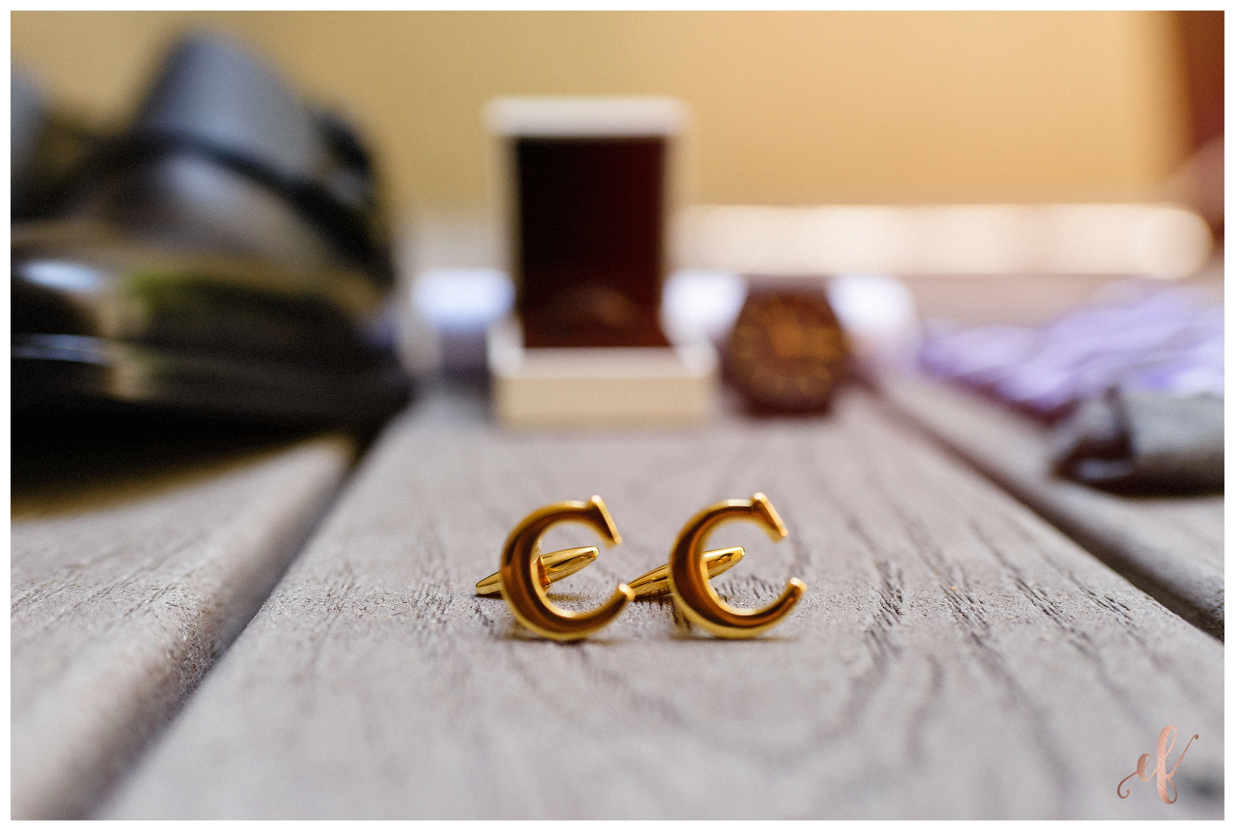 Ernie & Fiona Photography   Groom   Cuff Links   Letter C
