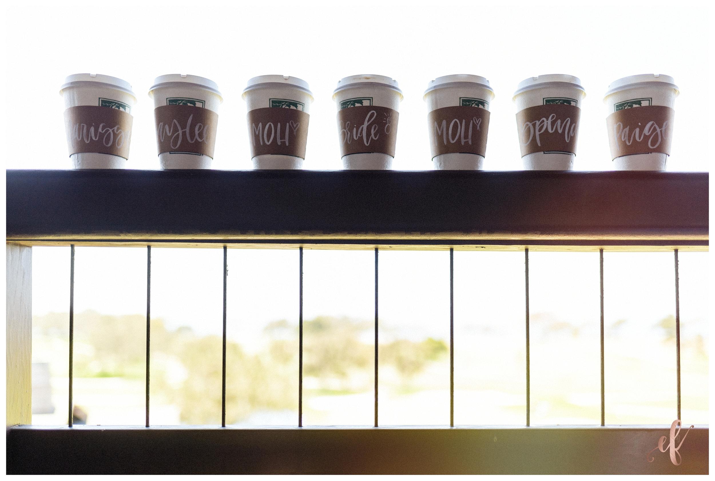 San Diego Wedding Photographer   Ernie & Fiona Photography   Bride   Bridesmaids   Starbucks Coffee cups