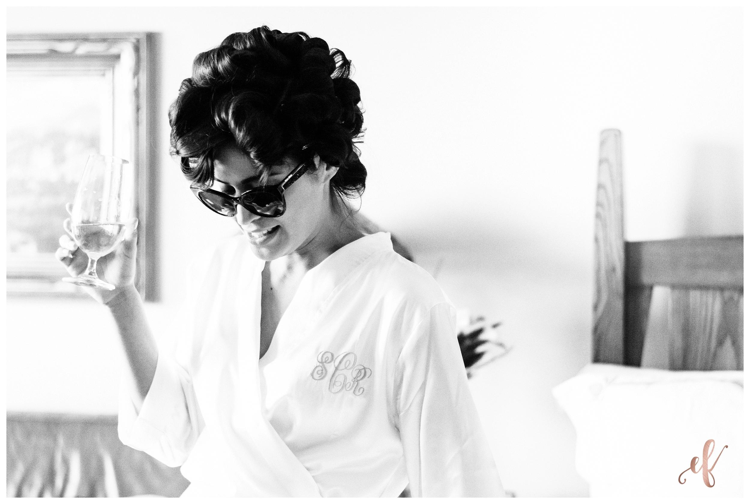 San Diego Wedding Photographer   Ernie & Fiona Photography   Bride   Sunglasses   Robe   Prep