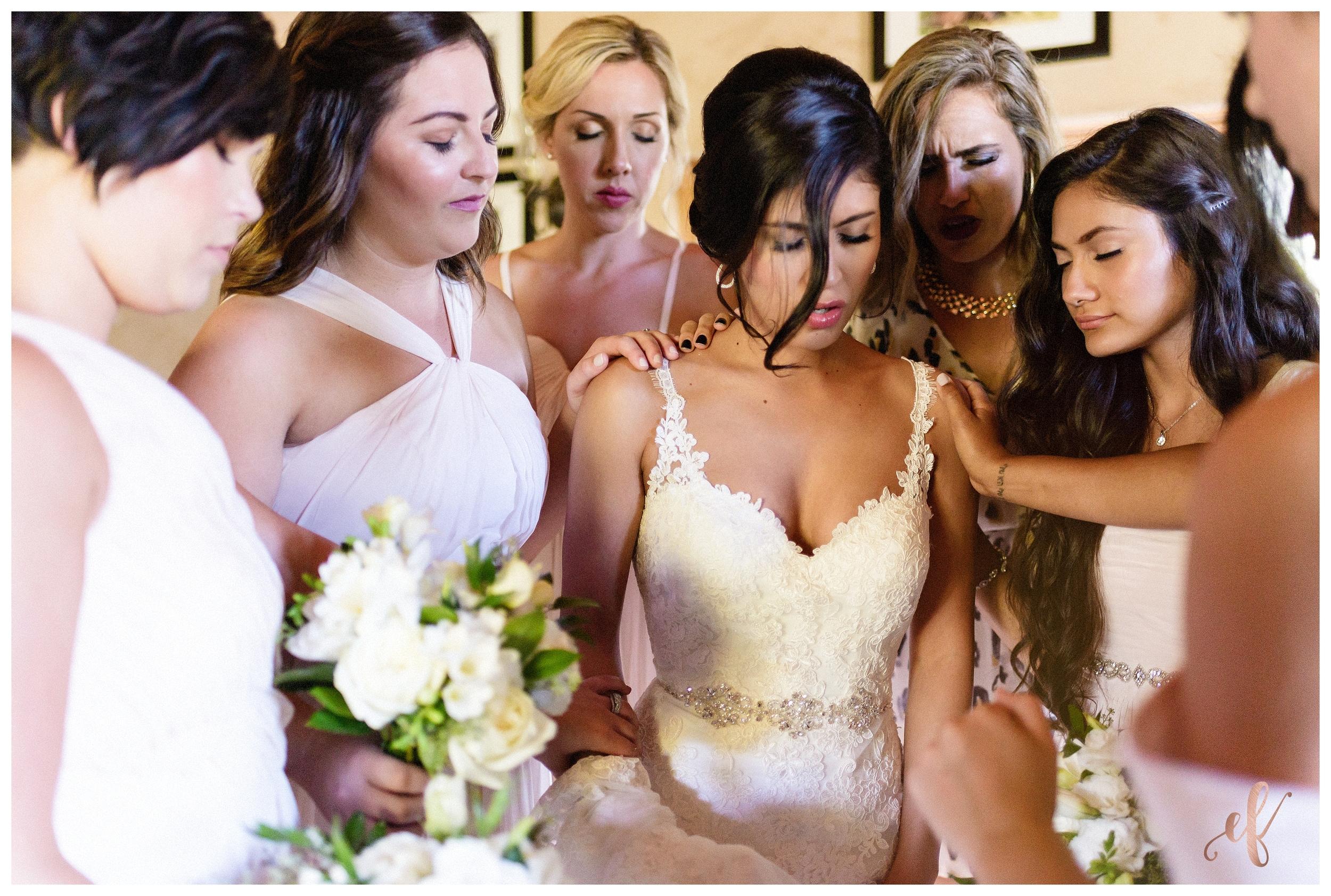 San Diego Wedding Photographer   Ernie & Fiona Photography   Bride   Bridesmaids   Prayer