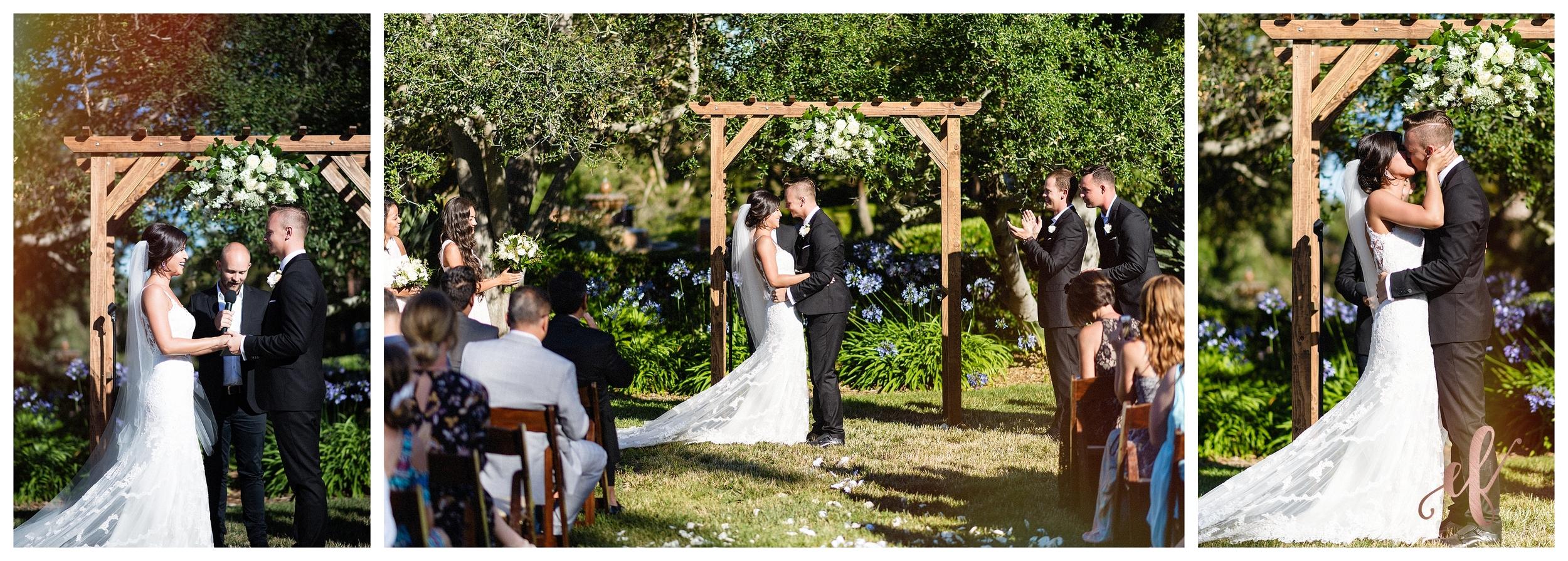 San Diego Wedding Photographer   Ernie & Fiona Photography   First Kiss
