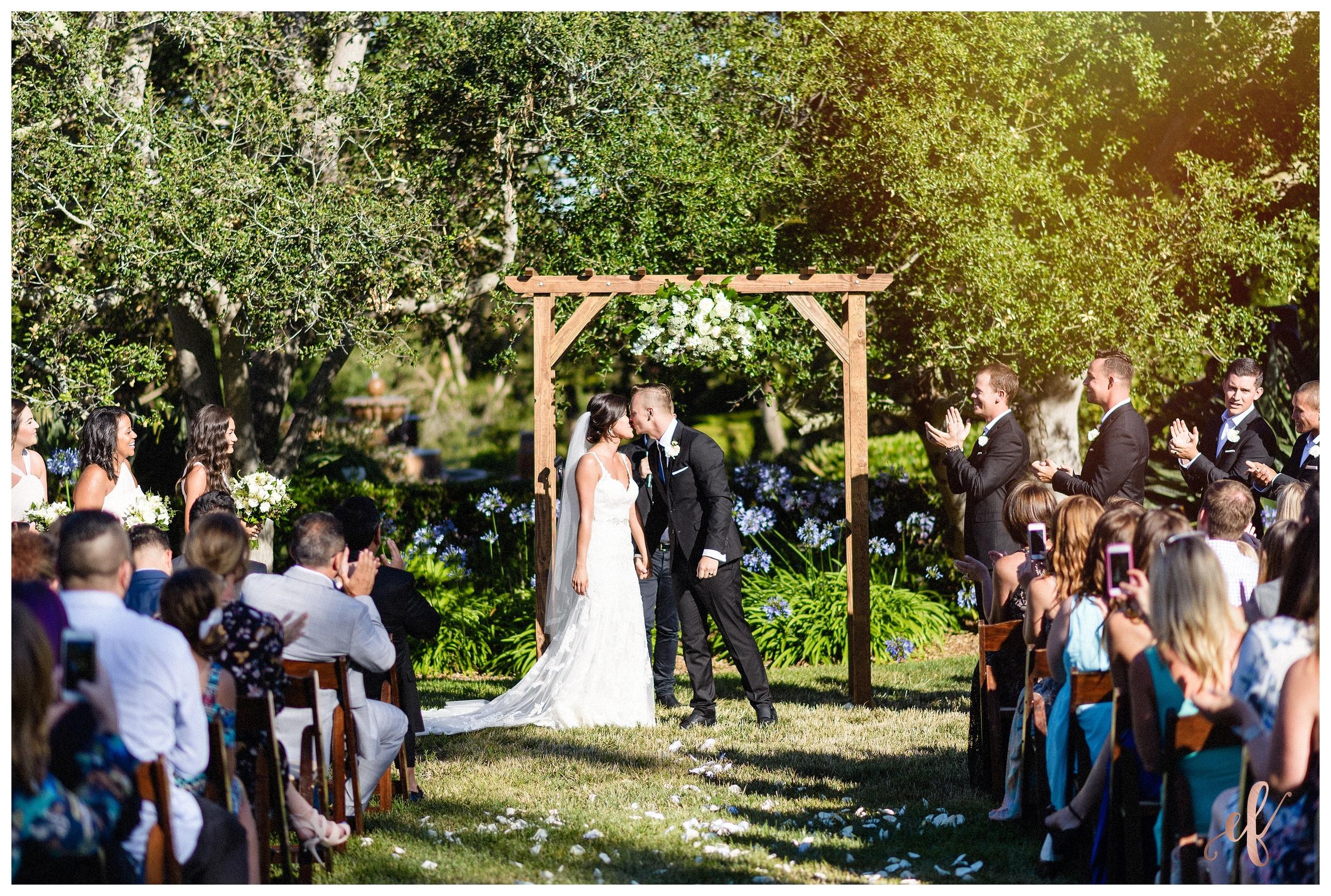 San Diego Wedding Photographer   Ernie & Fiona Photography   Bride   Groom   First Kiss