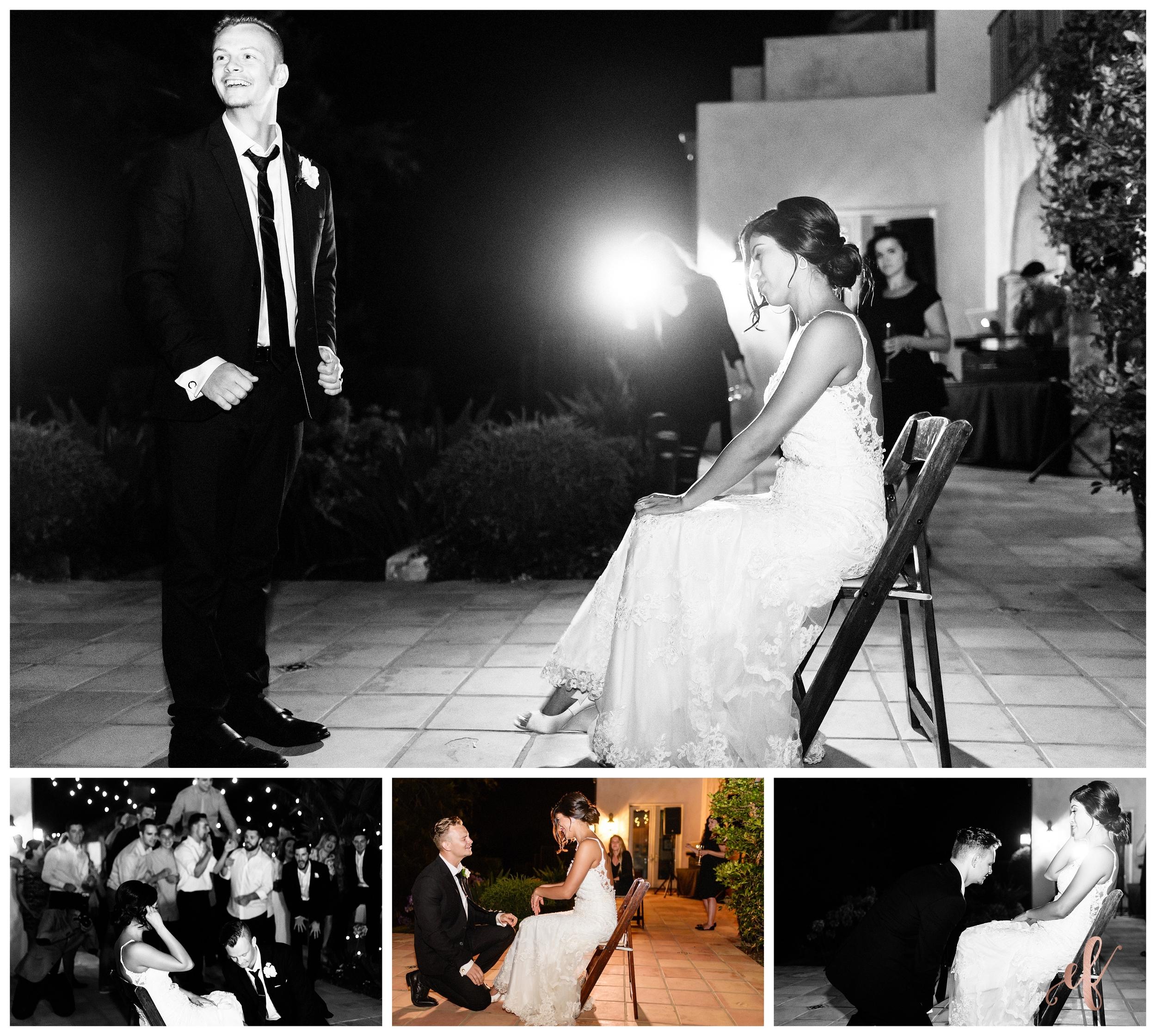 San Diego Wedding Photographer   Ernie & Fiona Photography   Bride   Groom   Garter