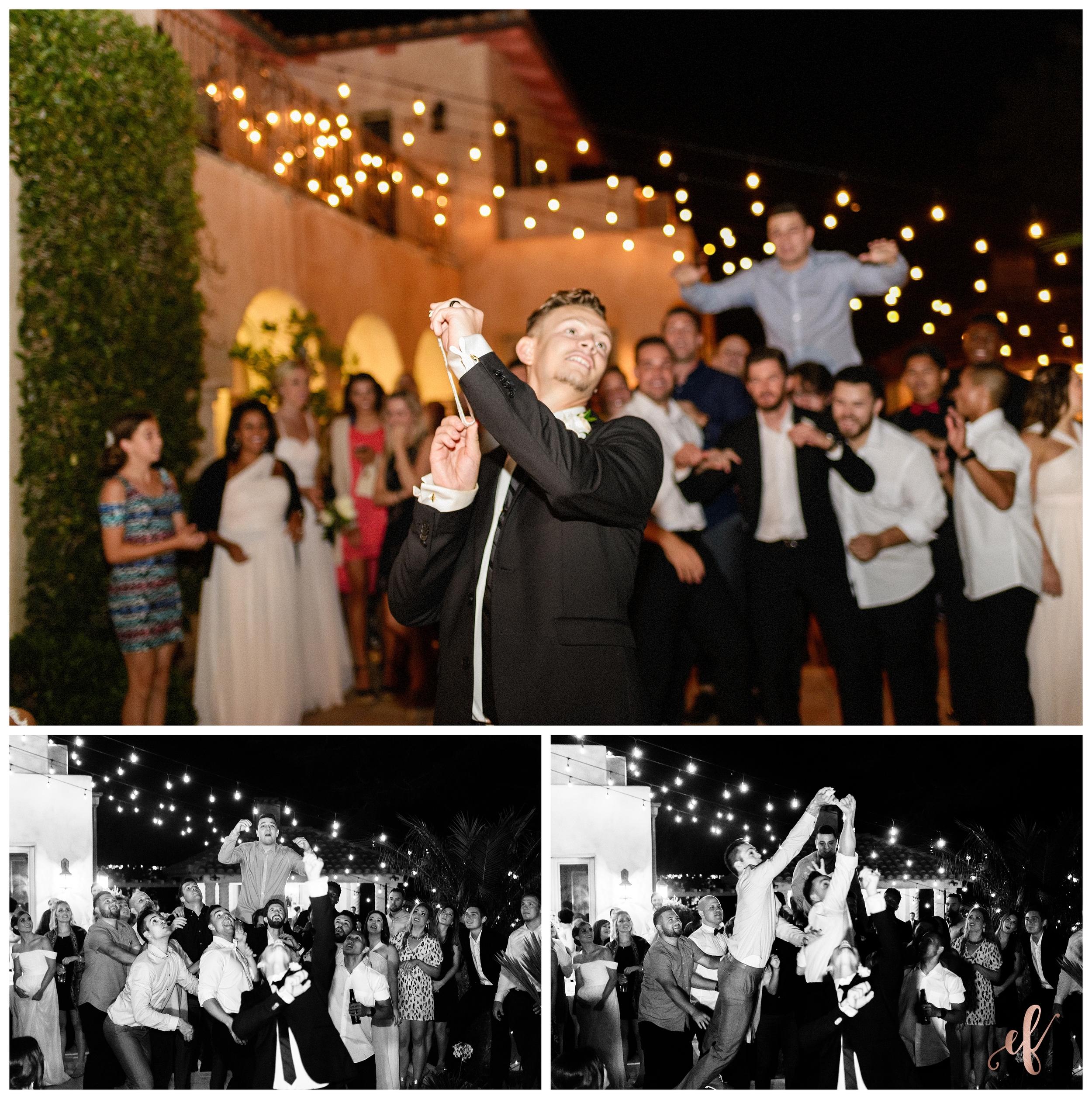 San Diego Wedding Photographer   Ernie & Fiona Photography   Garter Toss   Bride   Groom