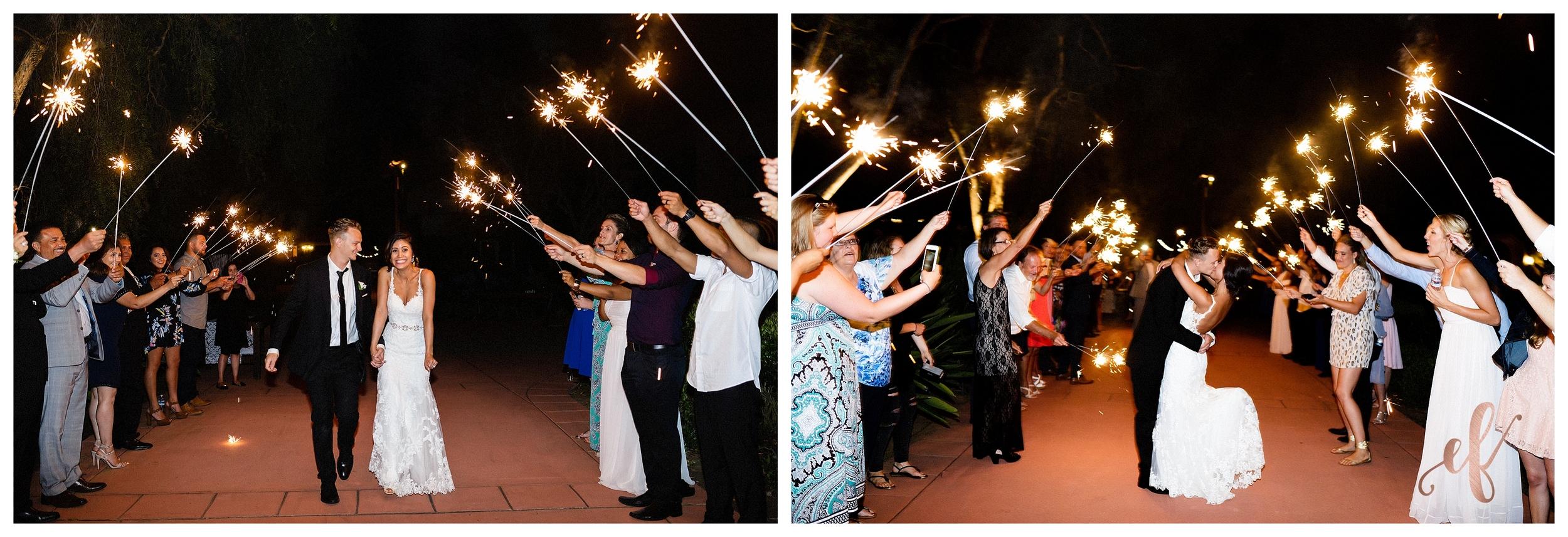 San Diego Wedding Photographer   Ernie & Fiona Photography   Bride   Groom   Sparklers