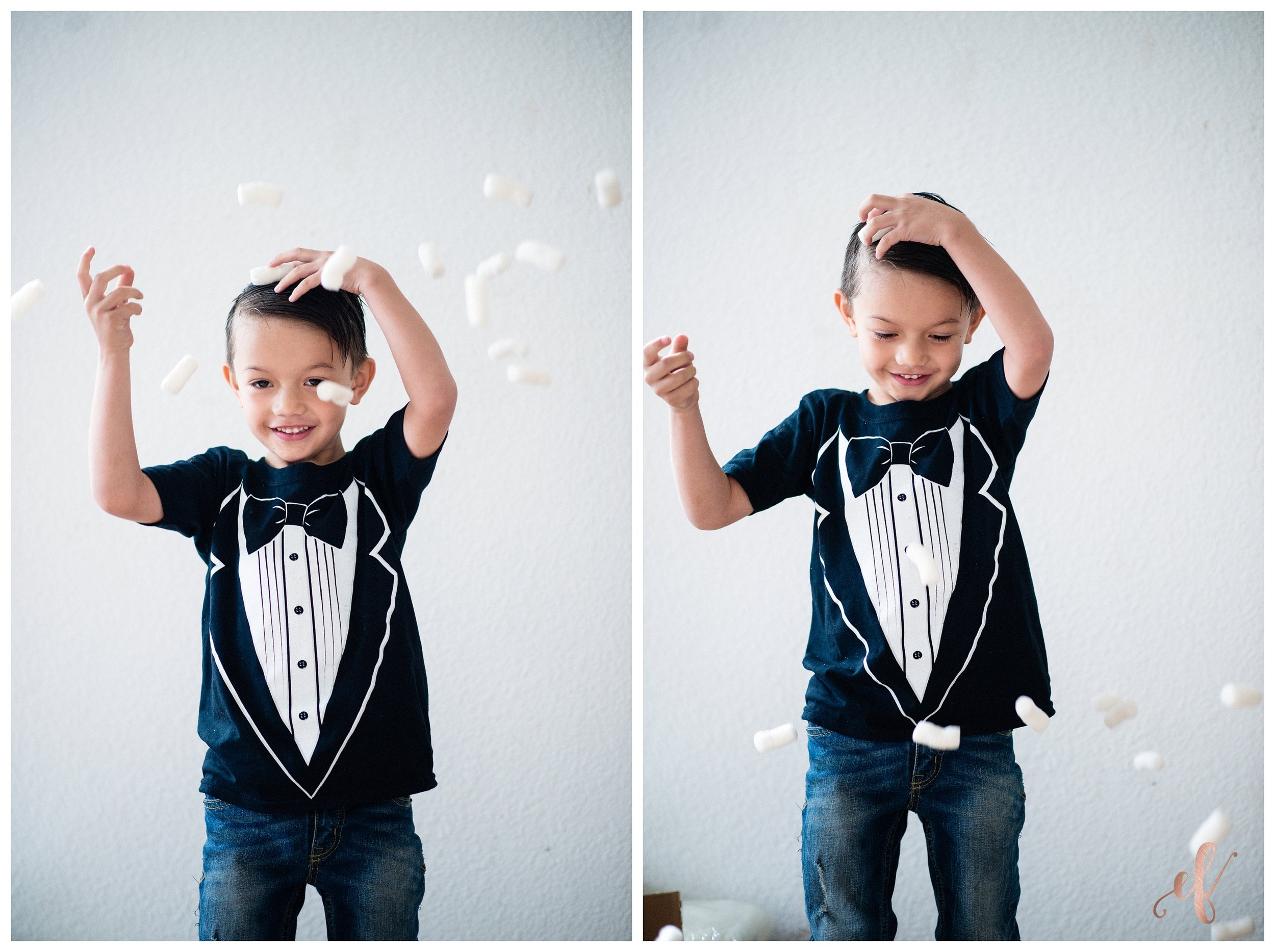San Diego Portrait Photography | School | First Day of School | Tuxedo T-Shirt