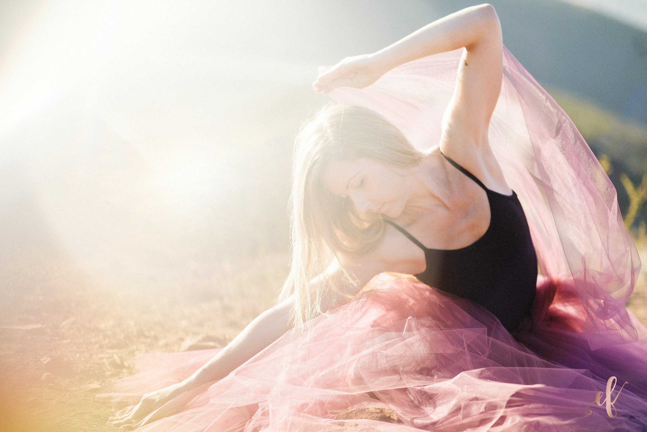 San Diego Portrait Photography   Dance   Yoga   Tulle Skirt   San Marcos   Double Peak