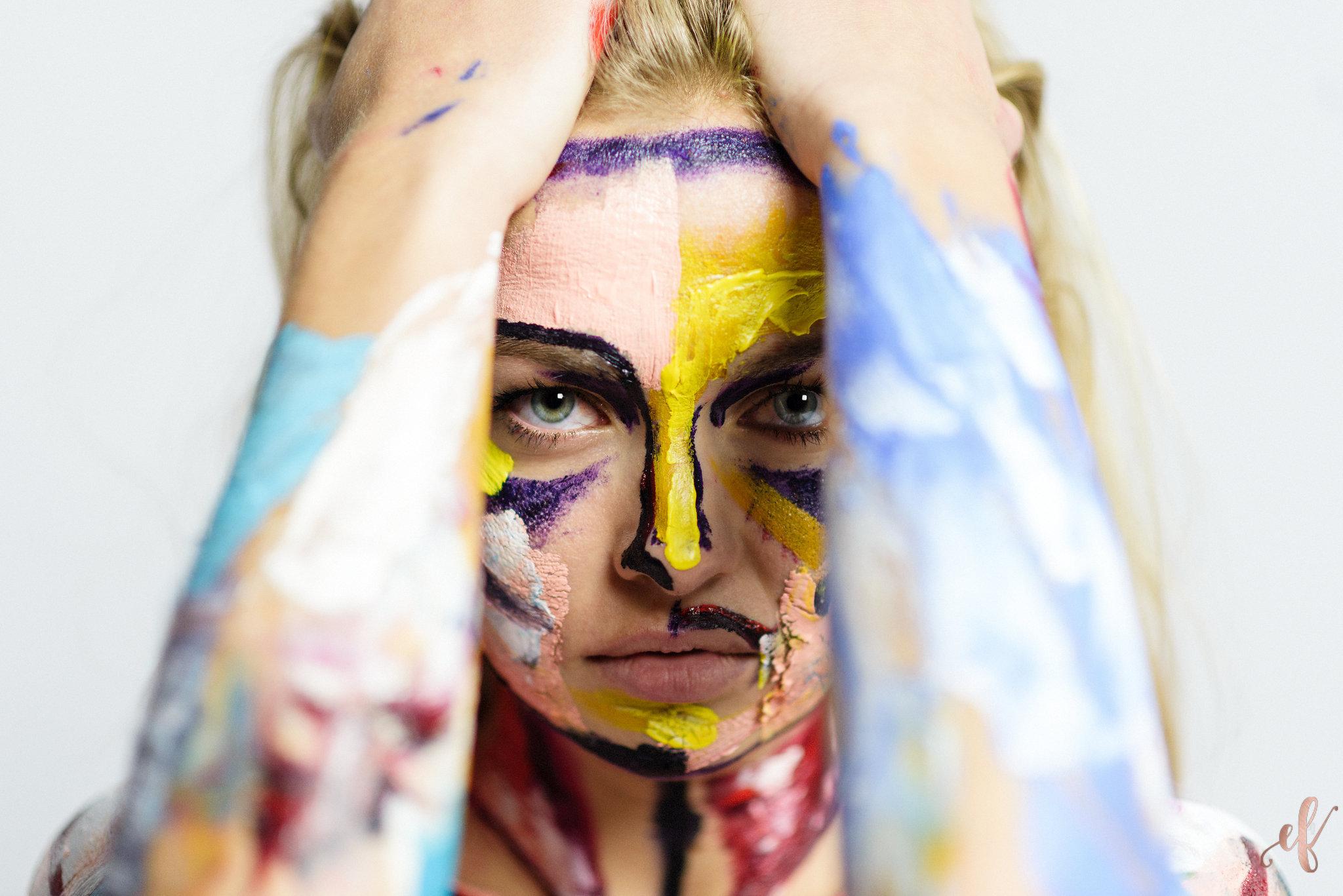 San Diego Portrait Photographer | Paint Portrait | Human Canvas