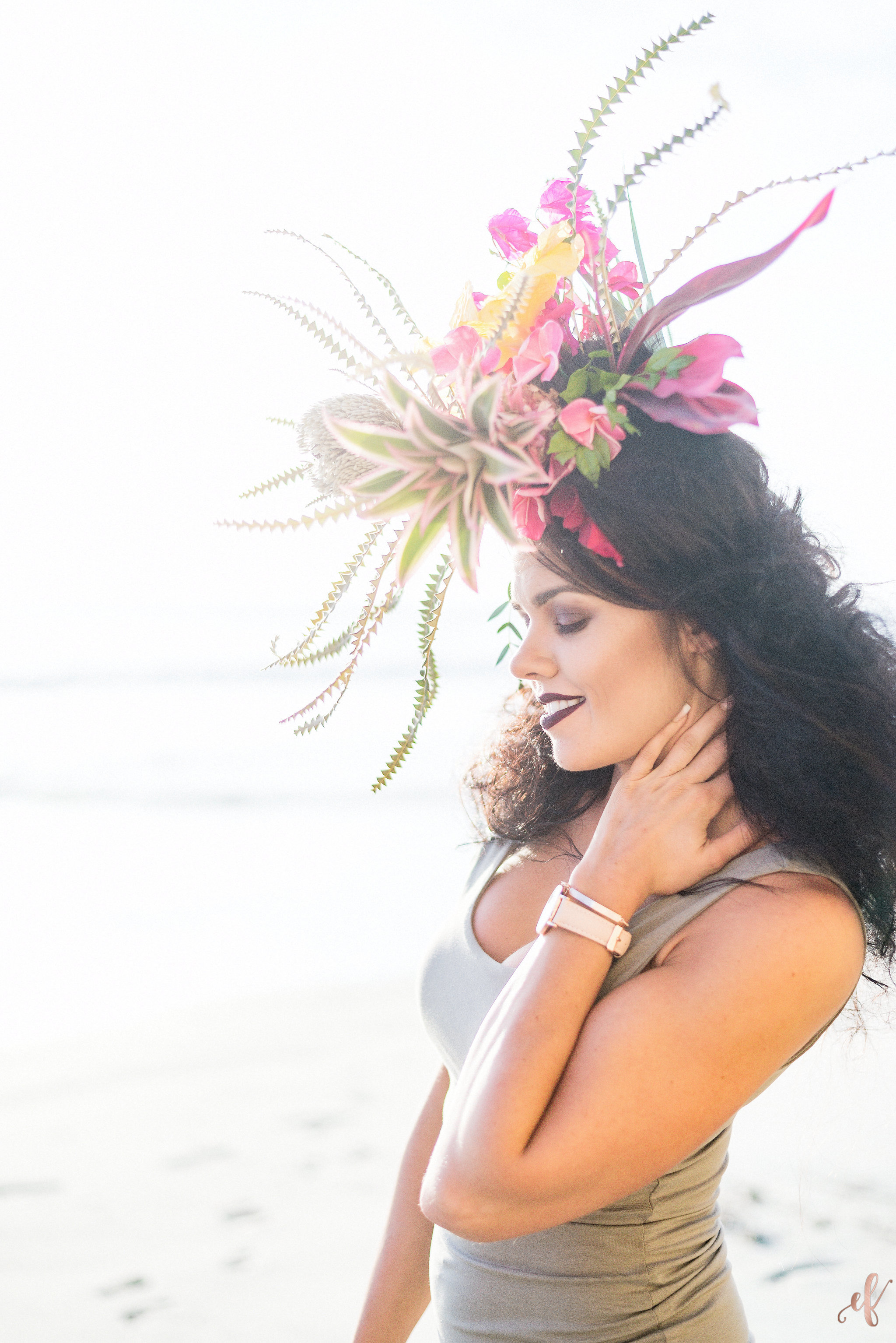 San Diego Portrait Photographer | Flower Crown | Ernie & Fiona | Rae Florae