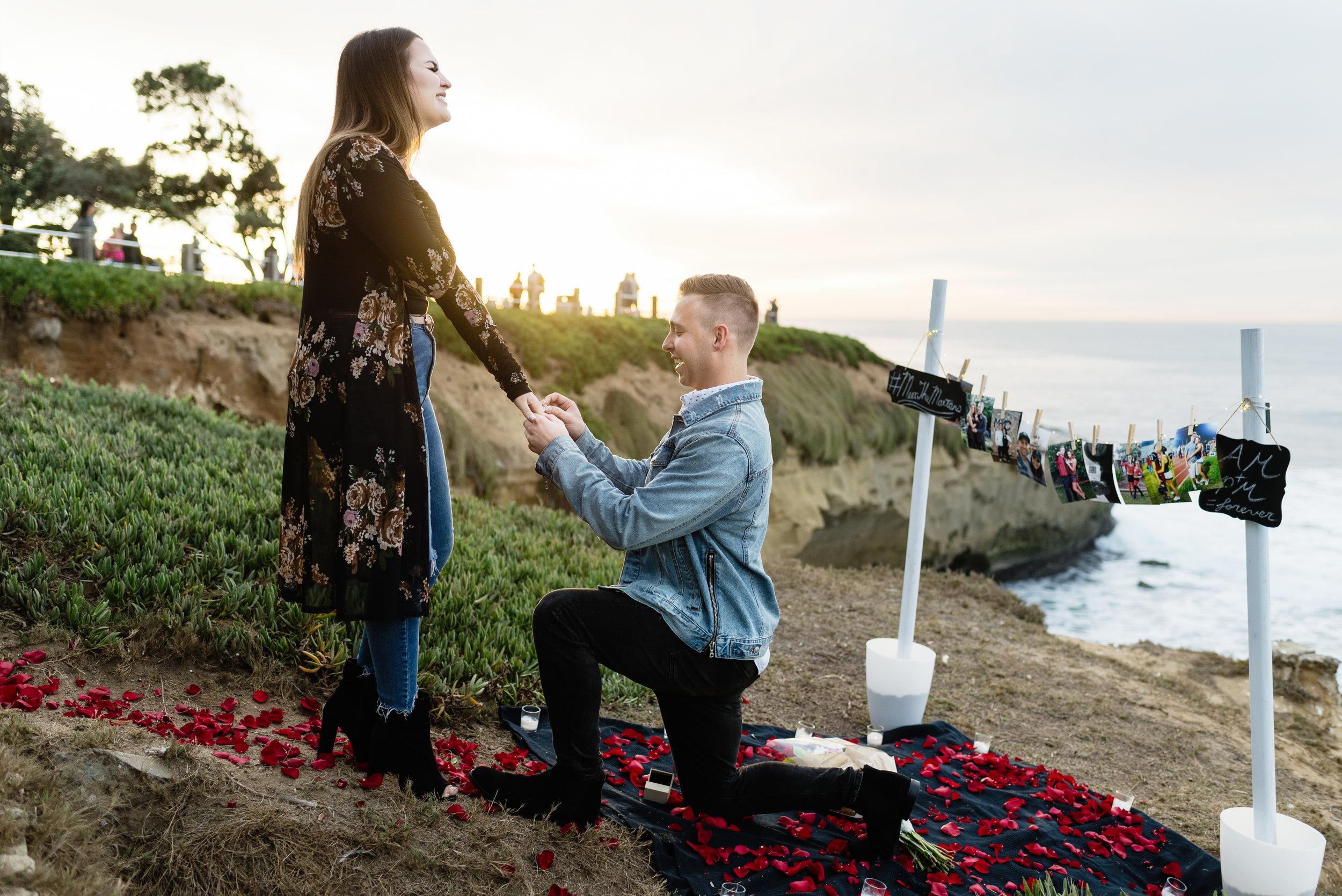 San Diego Proposal Photography | La Jolla | Alex + Paige