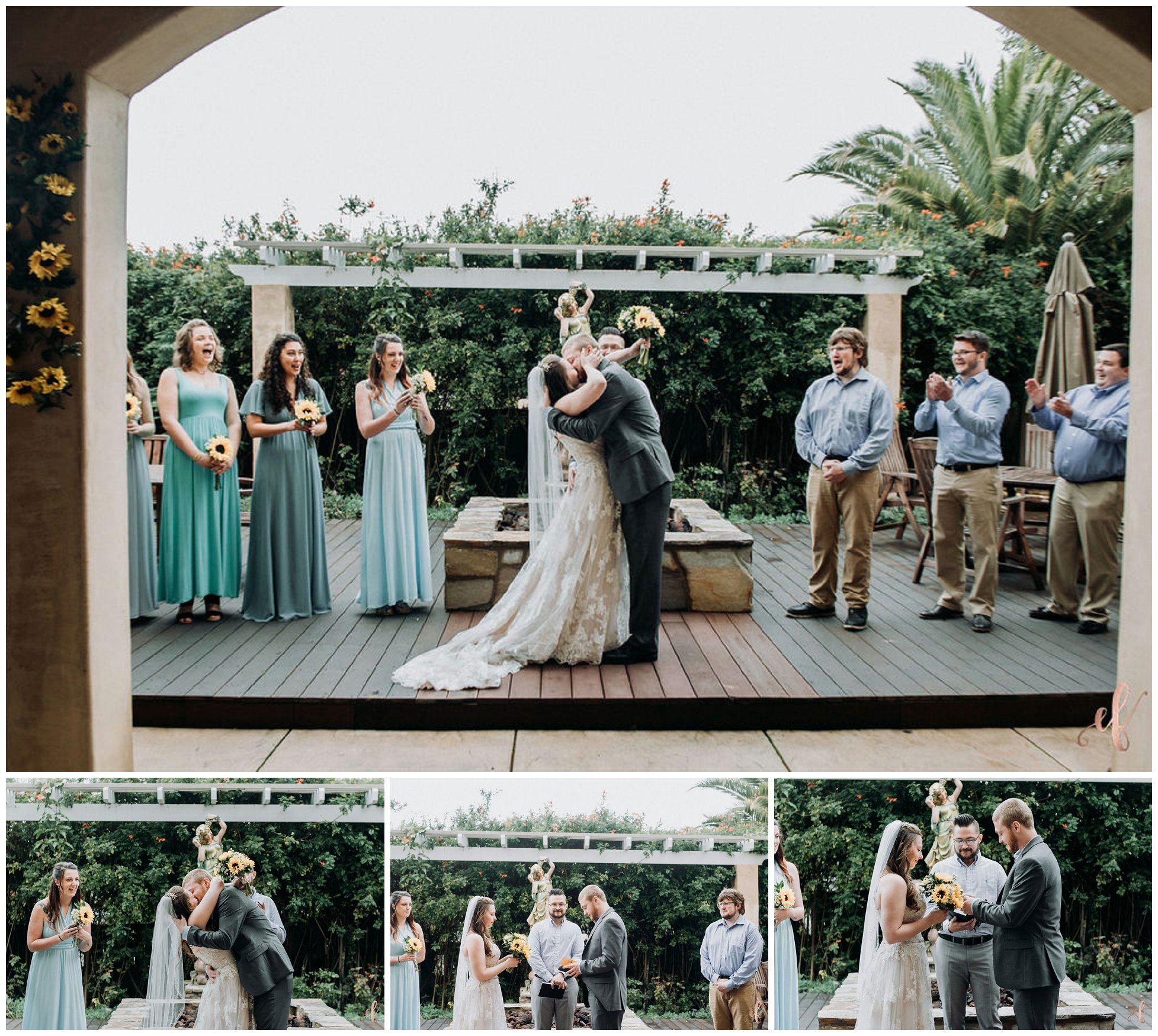 San Diego Wedding Photography in Backyard | Jessica + Jordan
