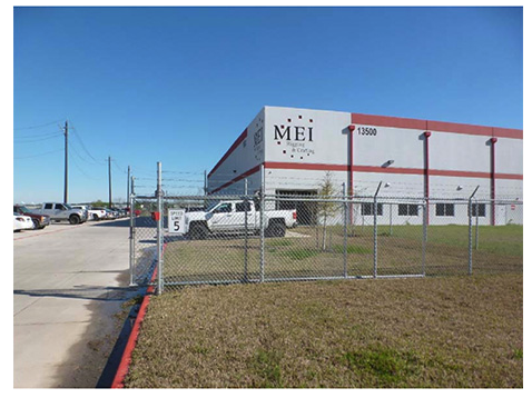 The industrial property at 13500 John F. Kennedy Blvd. in Houston totals 80,000 square feet.