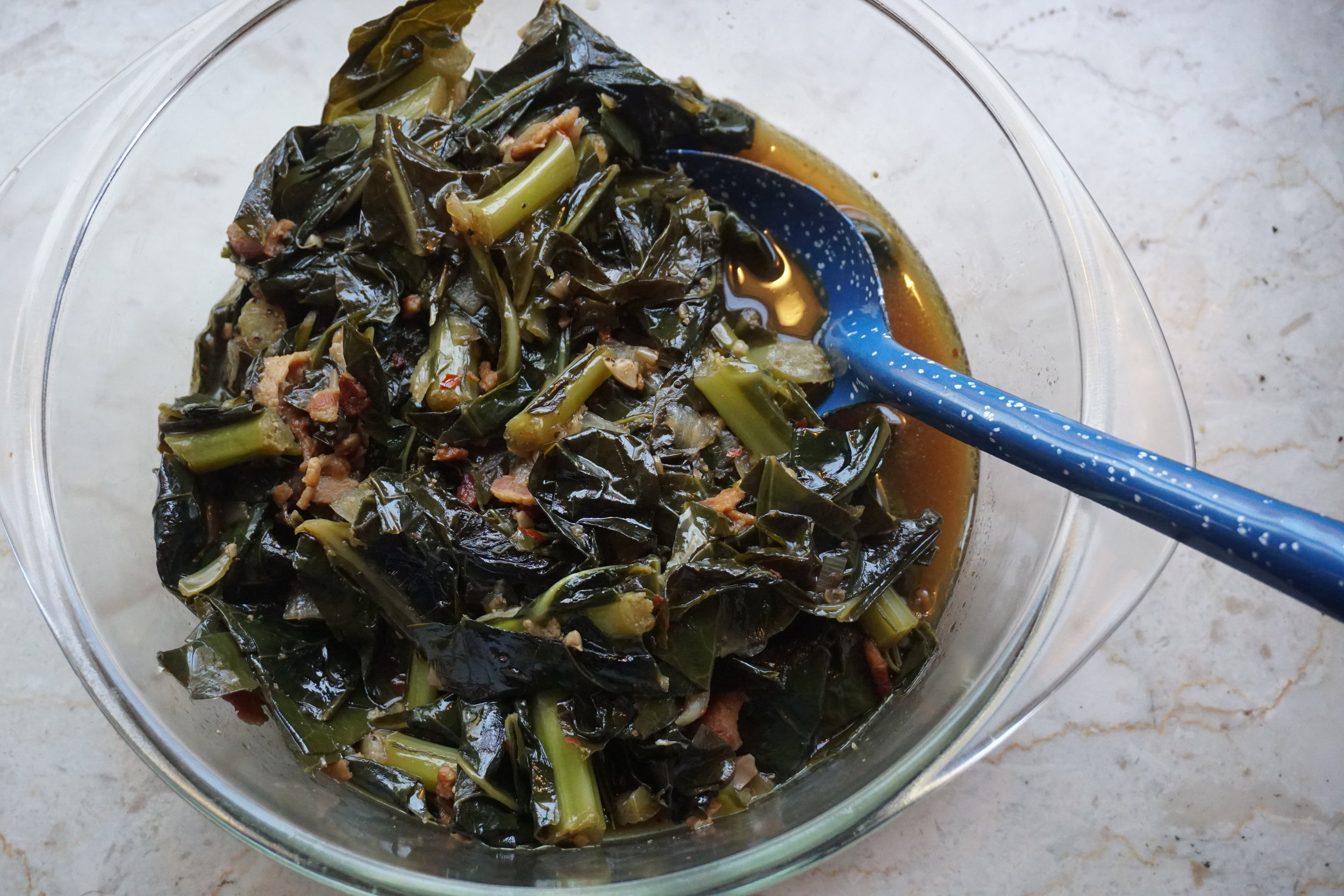 Cognac and Bacon Collard Greens
