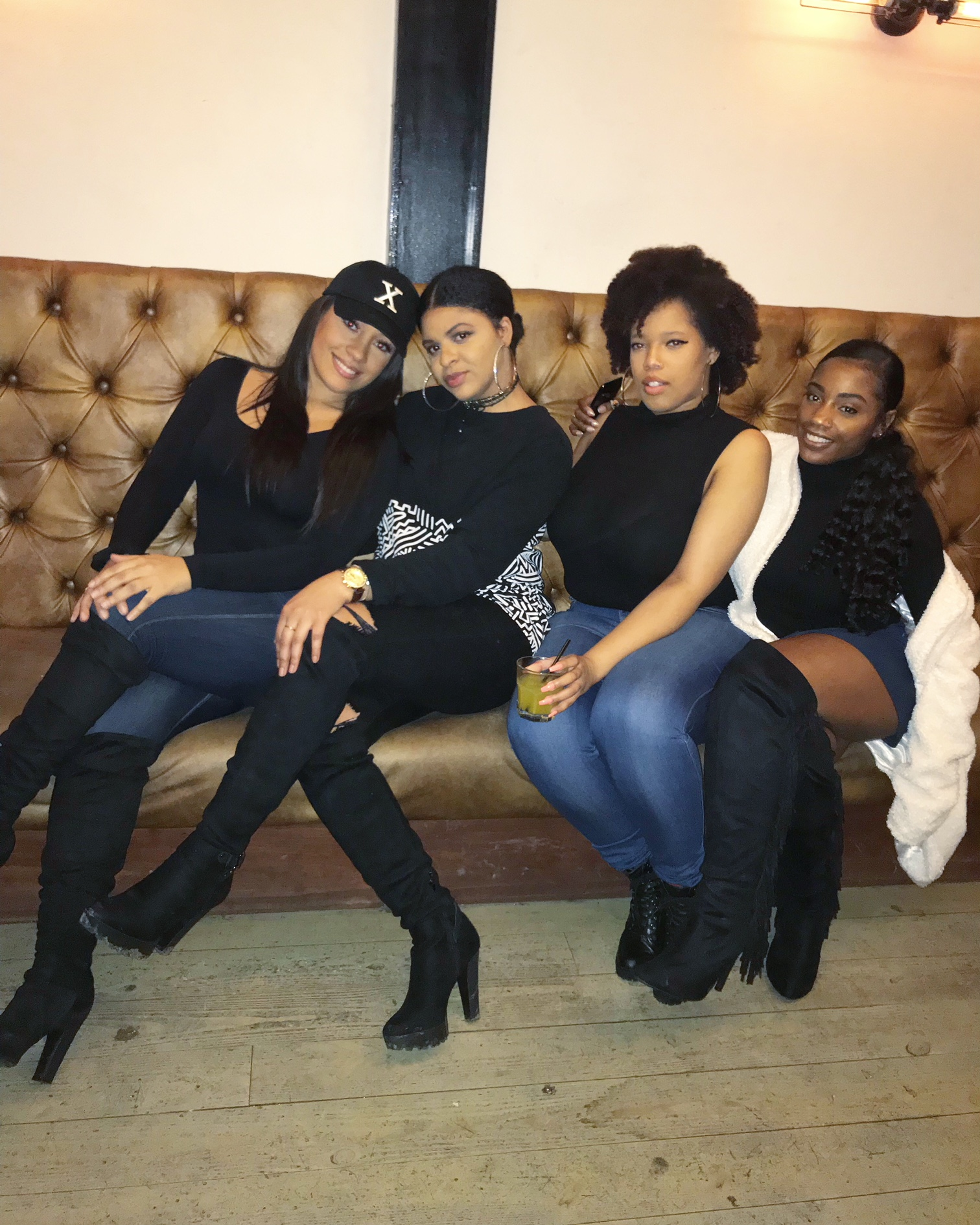 With a large couch and baddies, comes a photo opp. Duhhh