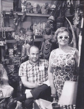 Rudi with his mother, Rae, in his first store.