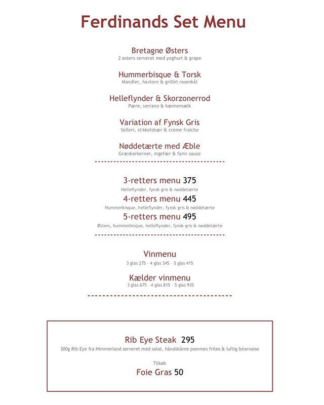 Ny menu! 😃 #ferdinandhotel #ferdinandaarhus #restaurantferdinand #ferdinandrestaurant #aarhus #michelinguide2019 #michelinguide