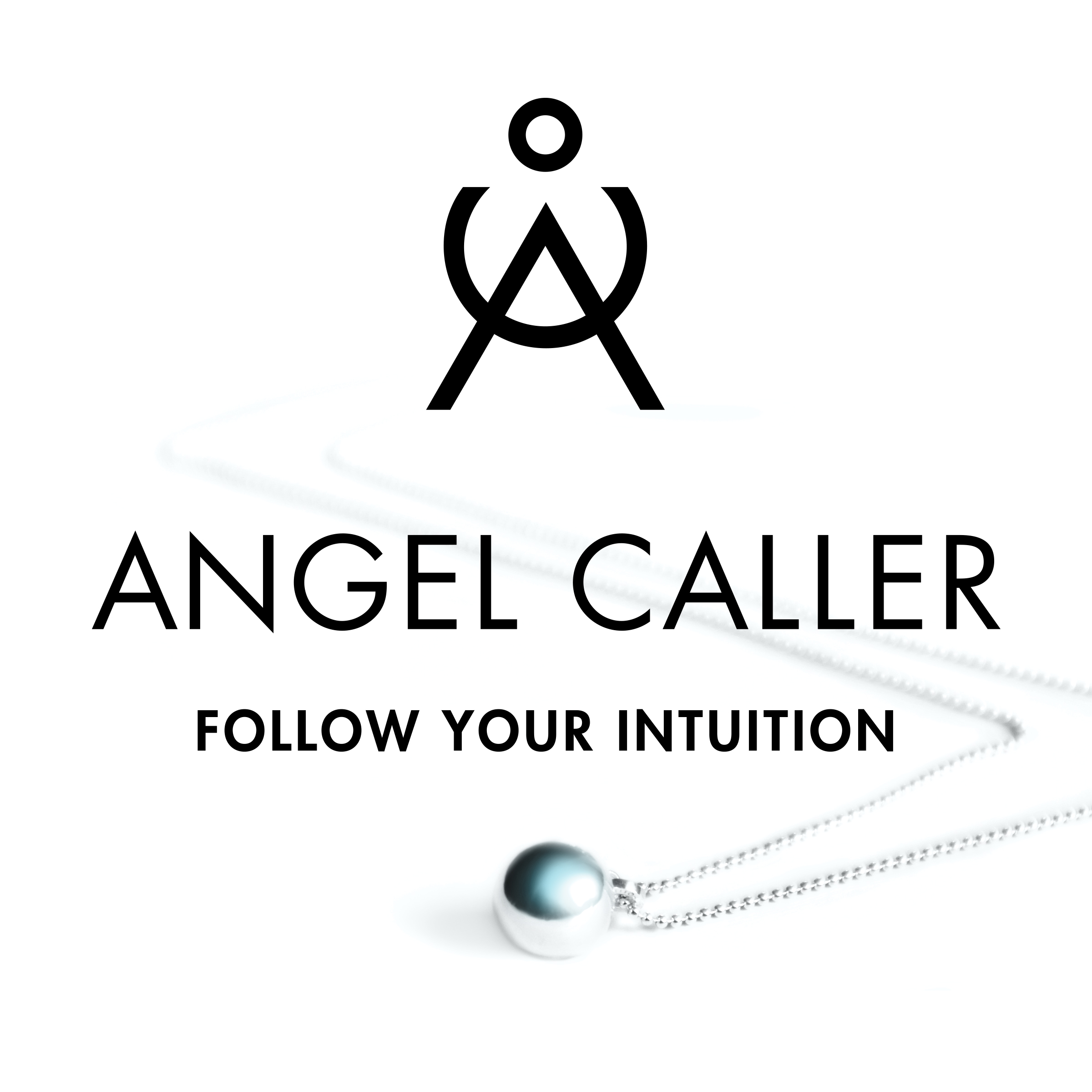 Silver Angel Caller Chime Ball Necklace