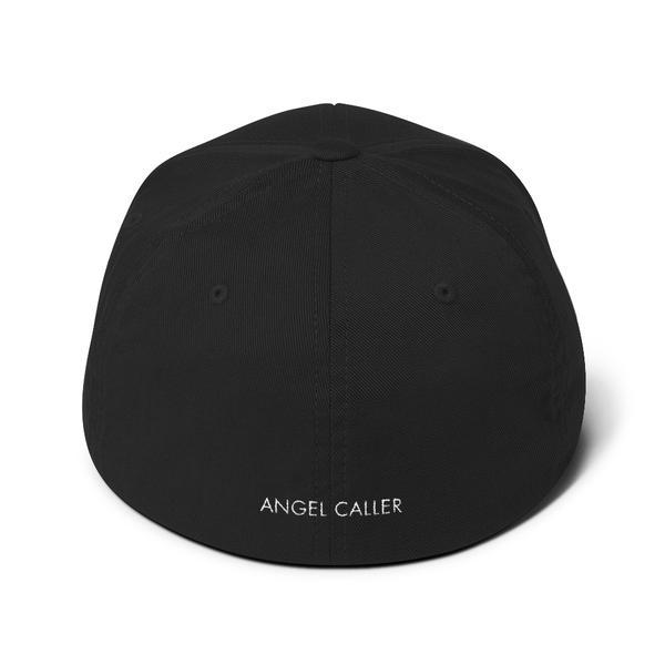 Angel Caller Logo Black Structured Baseball Cap