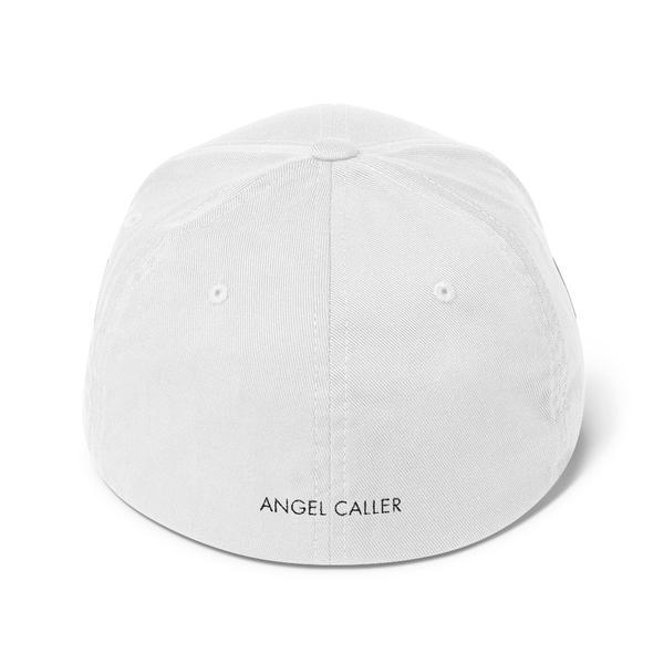 Angel Caller Logo White Structured Baseball Cap